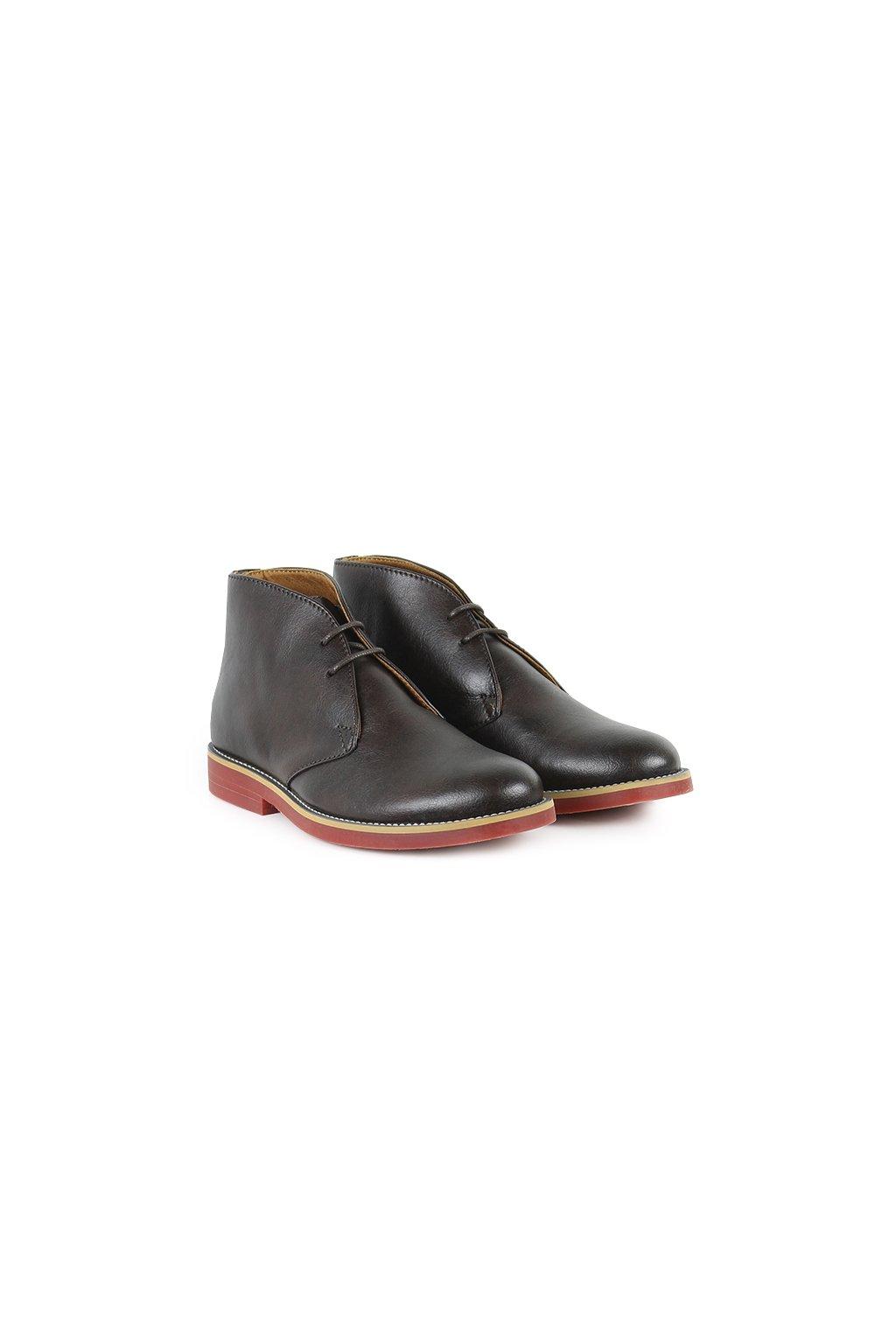 """Dámske hnedé členkové topánky """"Desert Boots"""" - starý model"""