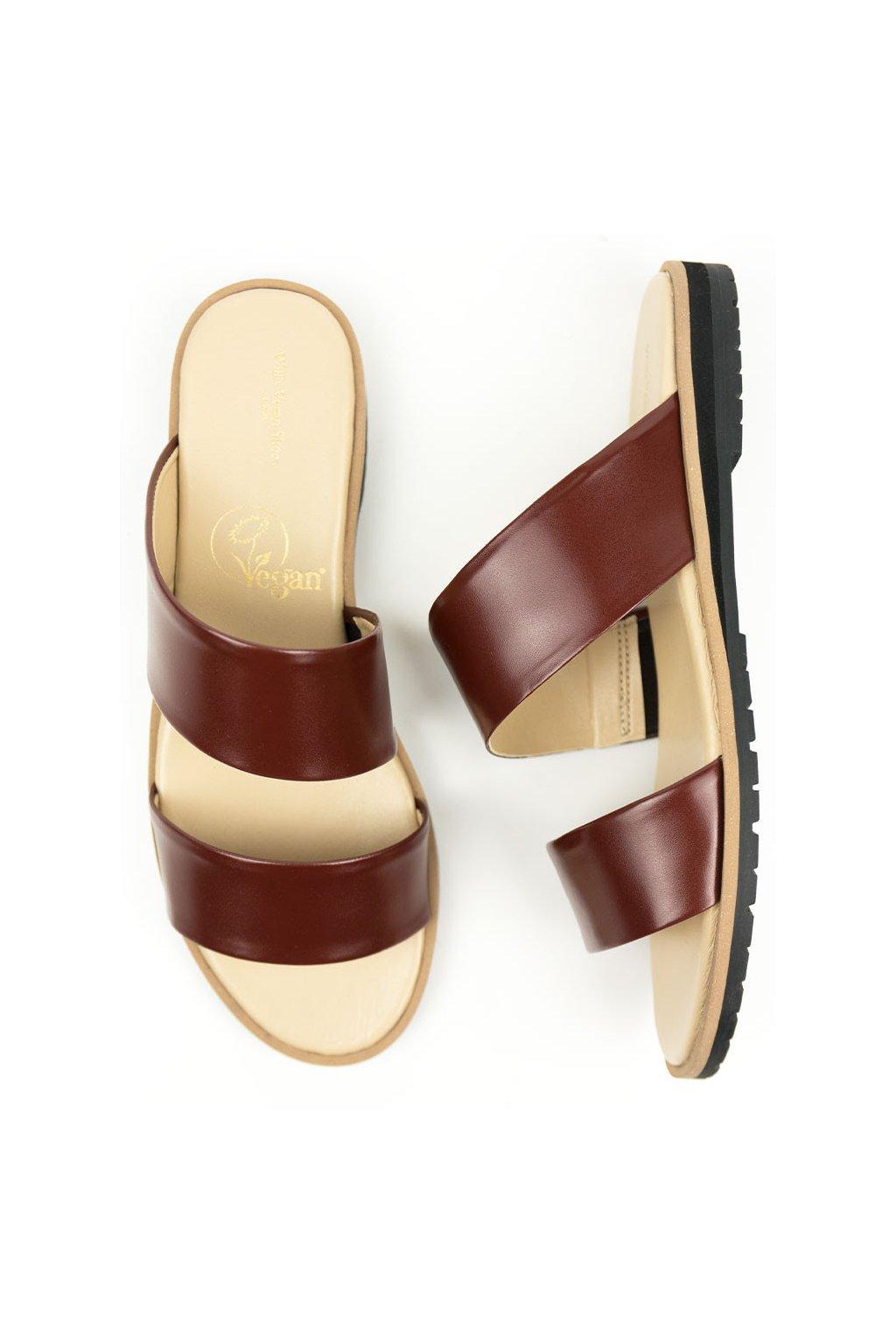 """Dámske hnedé sandále """"Two Strap Sandals"""""""