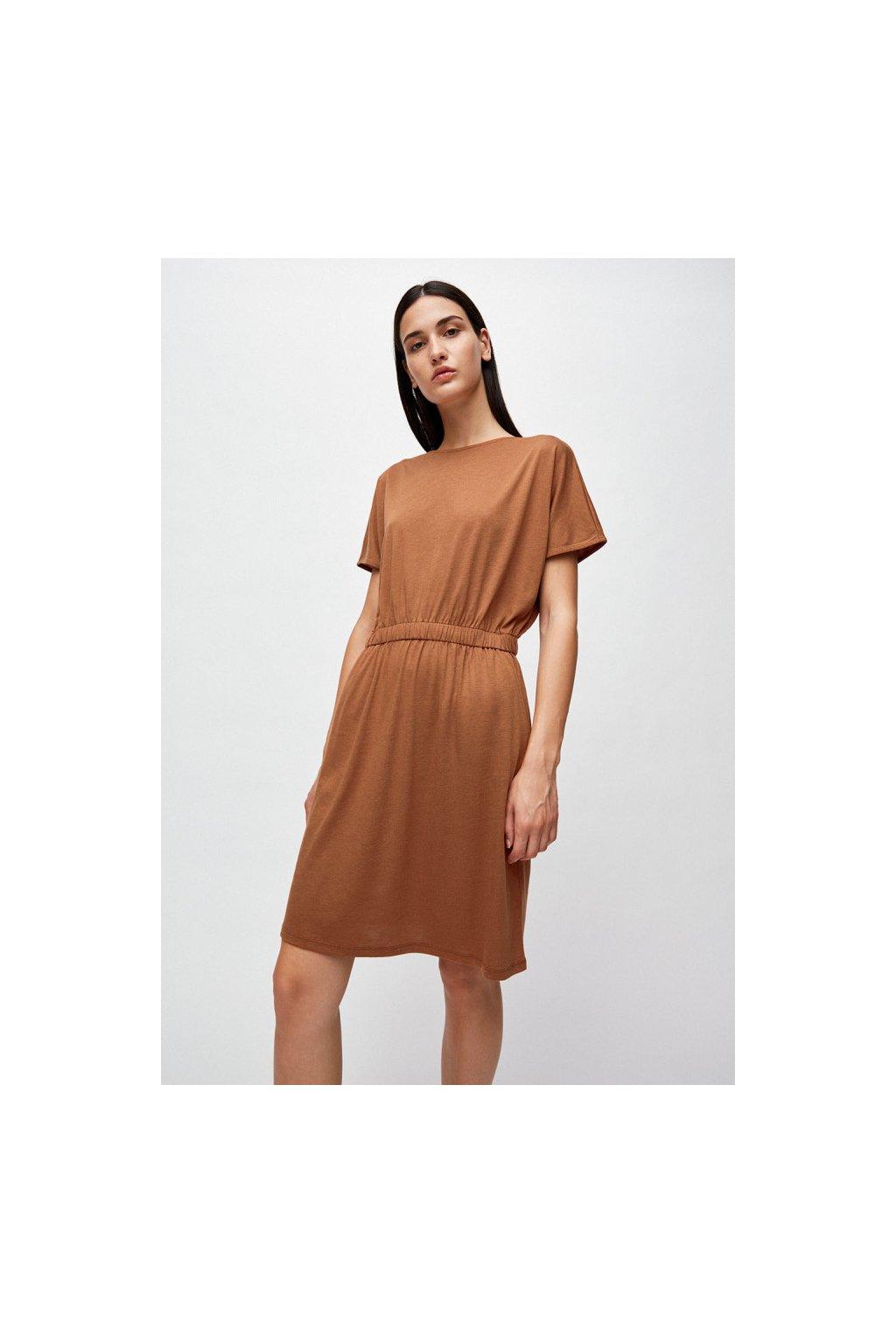 """Dámské hnědé šaty """"TADINAA maroon"""" (Velikost L)"""