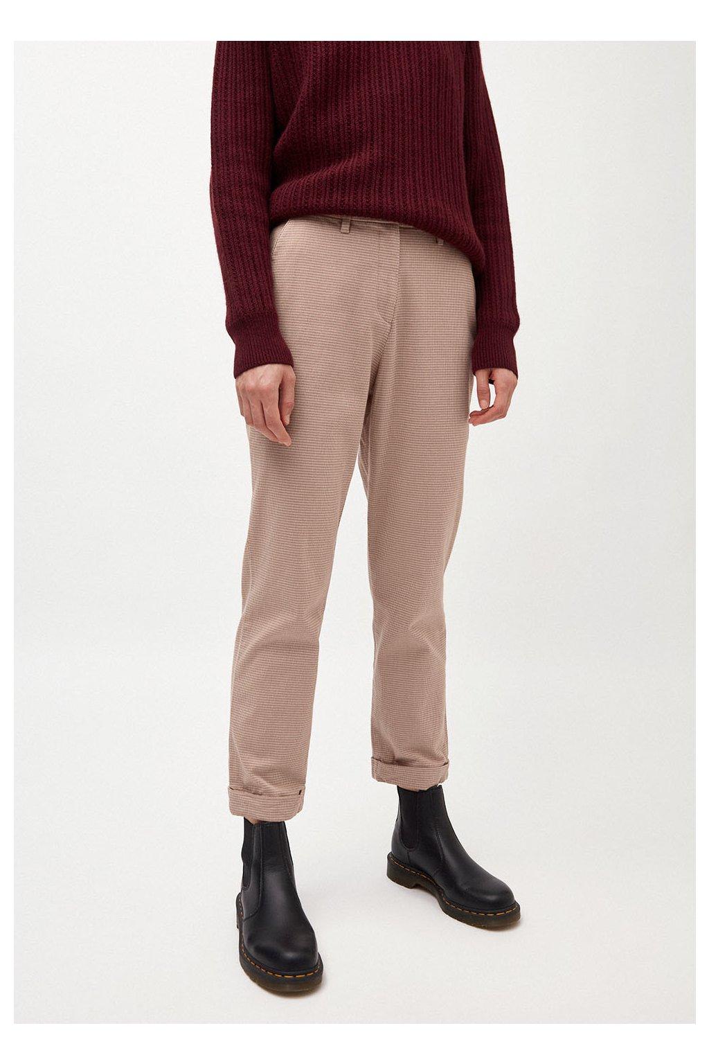 "Dámské kalhoty se vzorem ""HELLAA dark caramel"" (Velikost L)"