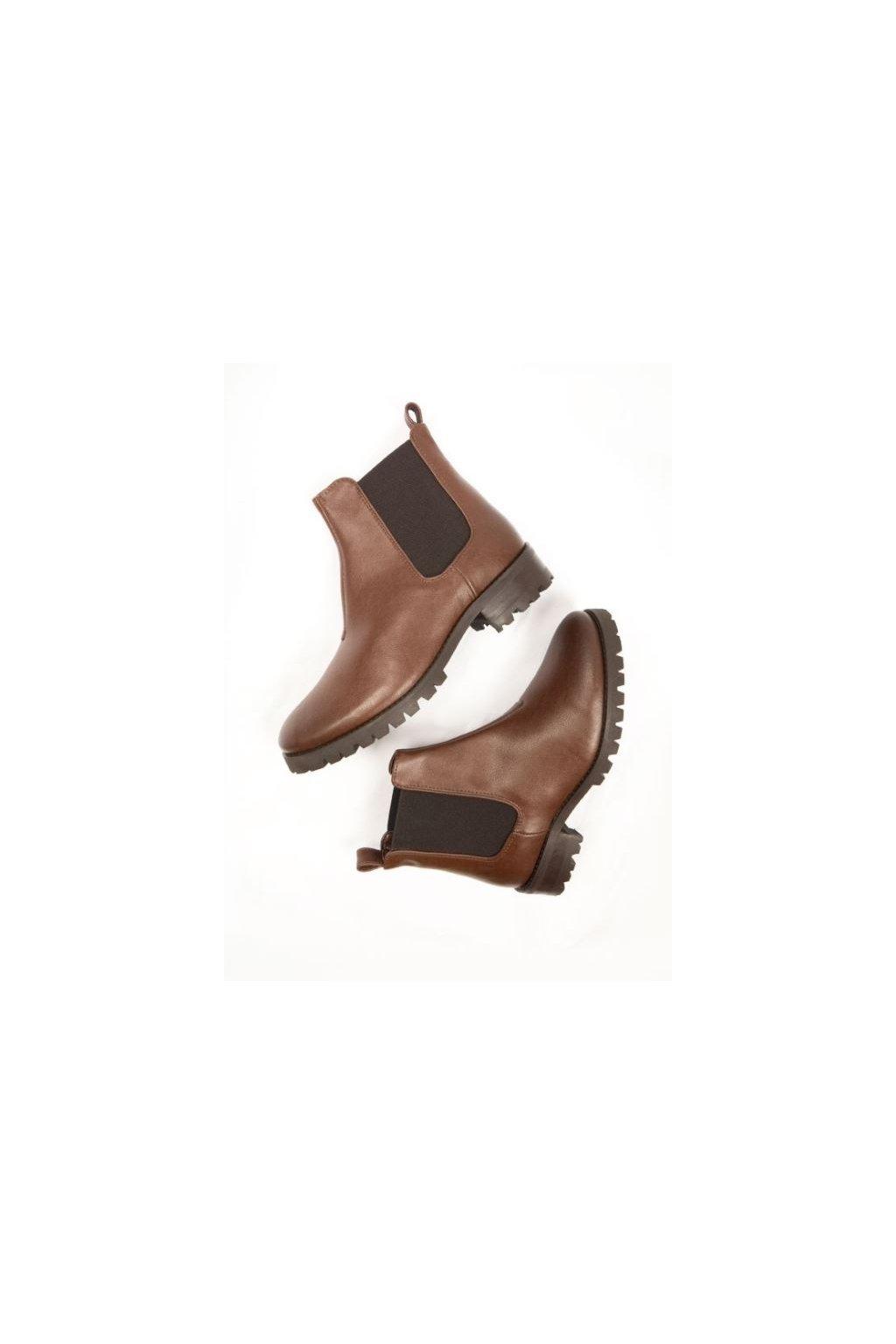 """Dámske hnedé členkové topánky  """"Deep Tread Chelsea Boots"""""""