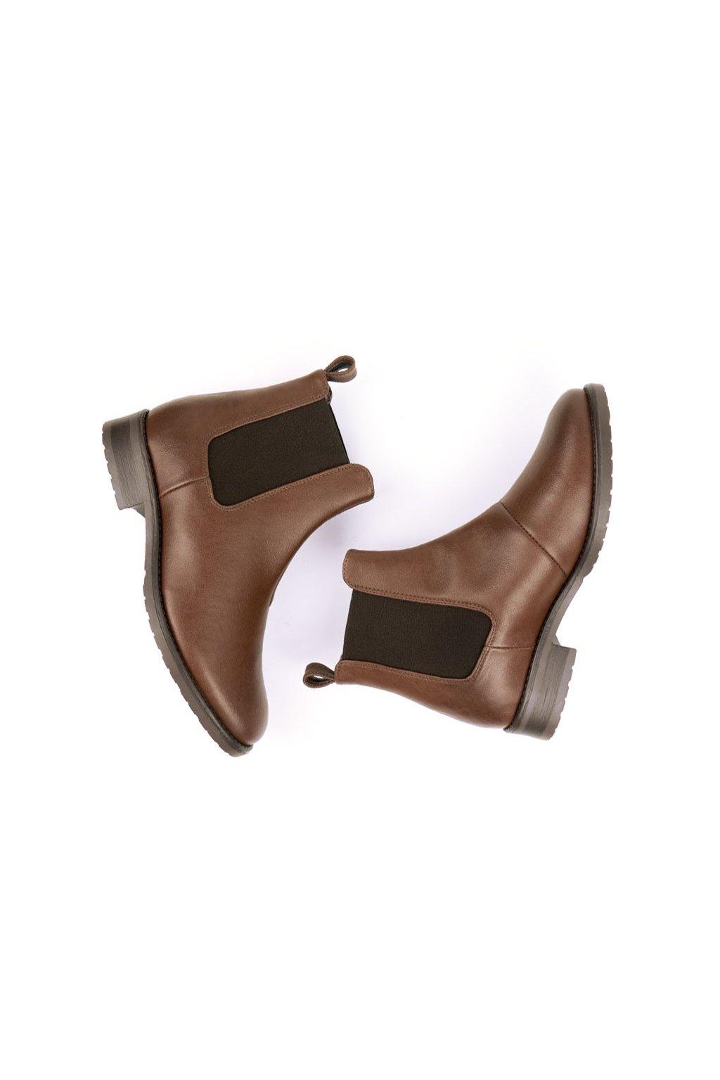 """Dámske hnedé členkové topánky """"Smart Chelsea Boots"""""""