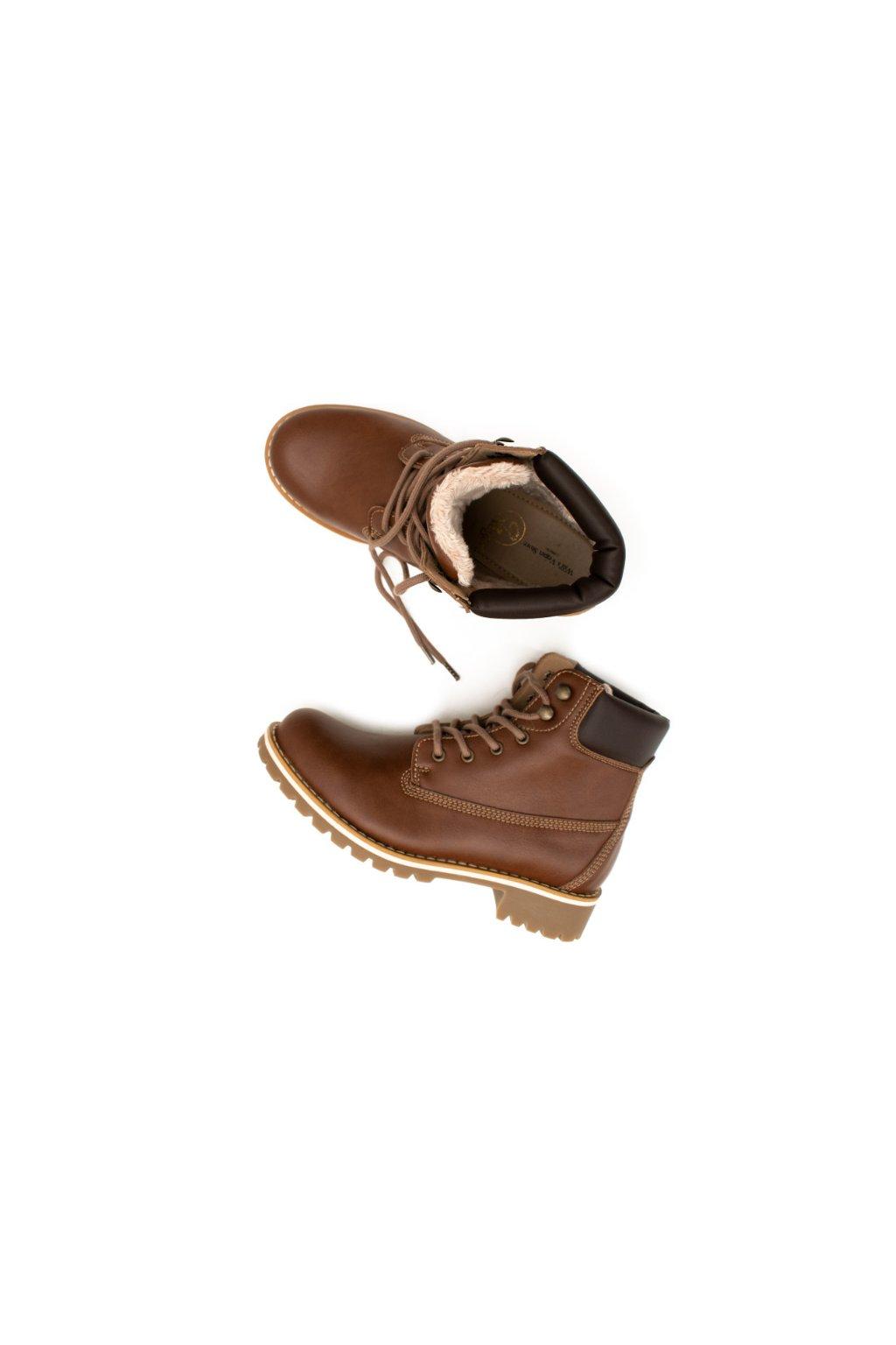 """Dámske hnedé zateplené členkové topánky """"Insulated Dock Boots Chestnut"""""""