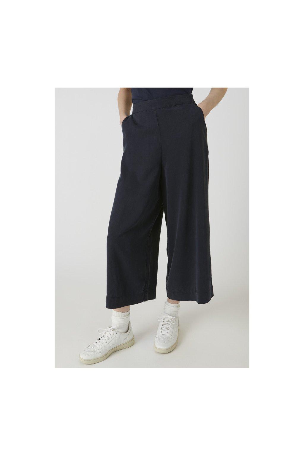 """Dámské modré culotte kalhoty z eukalyptu """"KAYLA frozen blue"""" (Velikost L)"""
