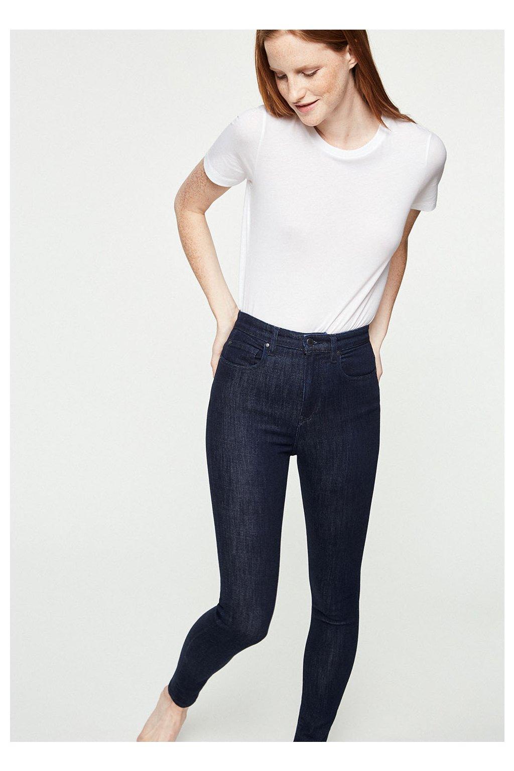 """Dámské modré džíny s vyšším pasem """"Inga Rinse"""" (Velikost 25/32)"""
