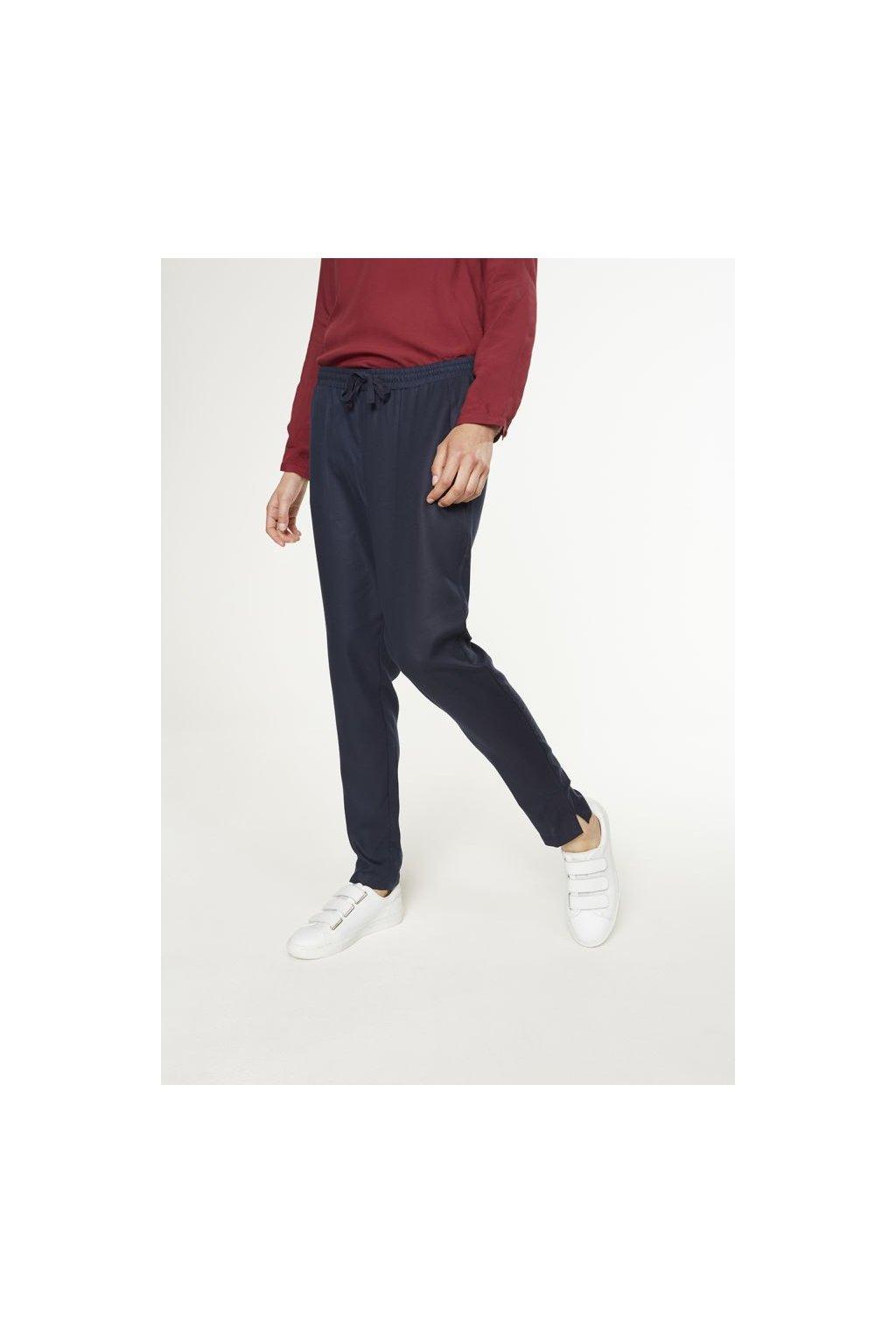"""Dámské modré kalhoty """"Anka"""" (Velikost M)"""