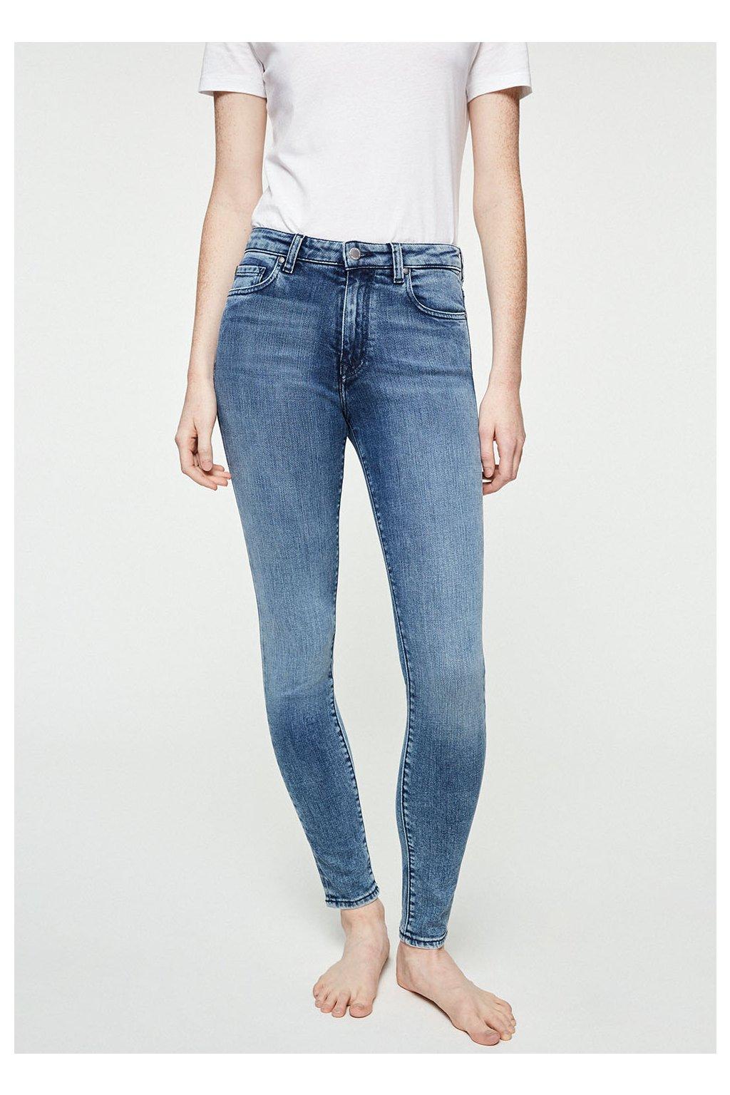 """Dámské modré slim fit džíny """"TILLAA STONE WASH"""" (Velikost 25/32)"""