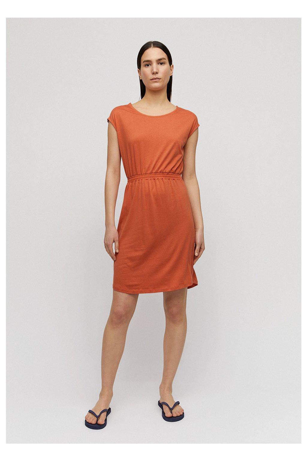 """Dámské oranžové šaty """"SONJAA starfish"""" (Velikost L)"""