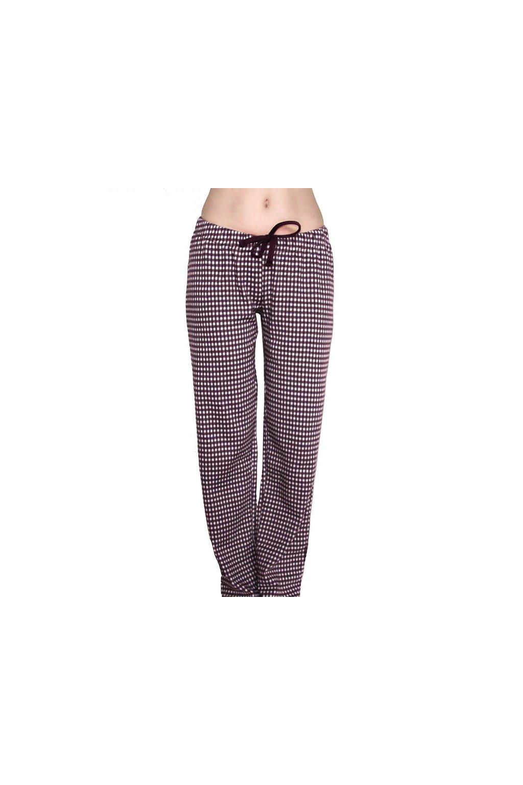 Dámské pyžamové kalhoty z biobavlny - fialové (Velikost L)