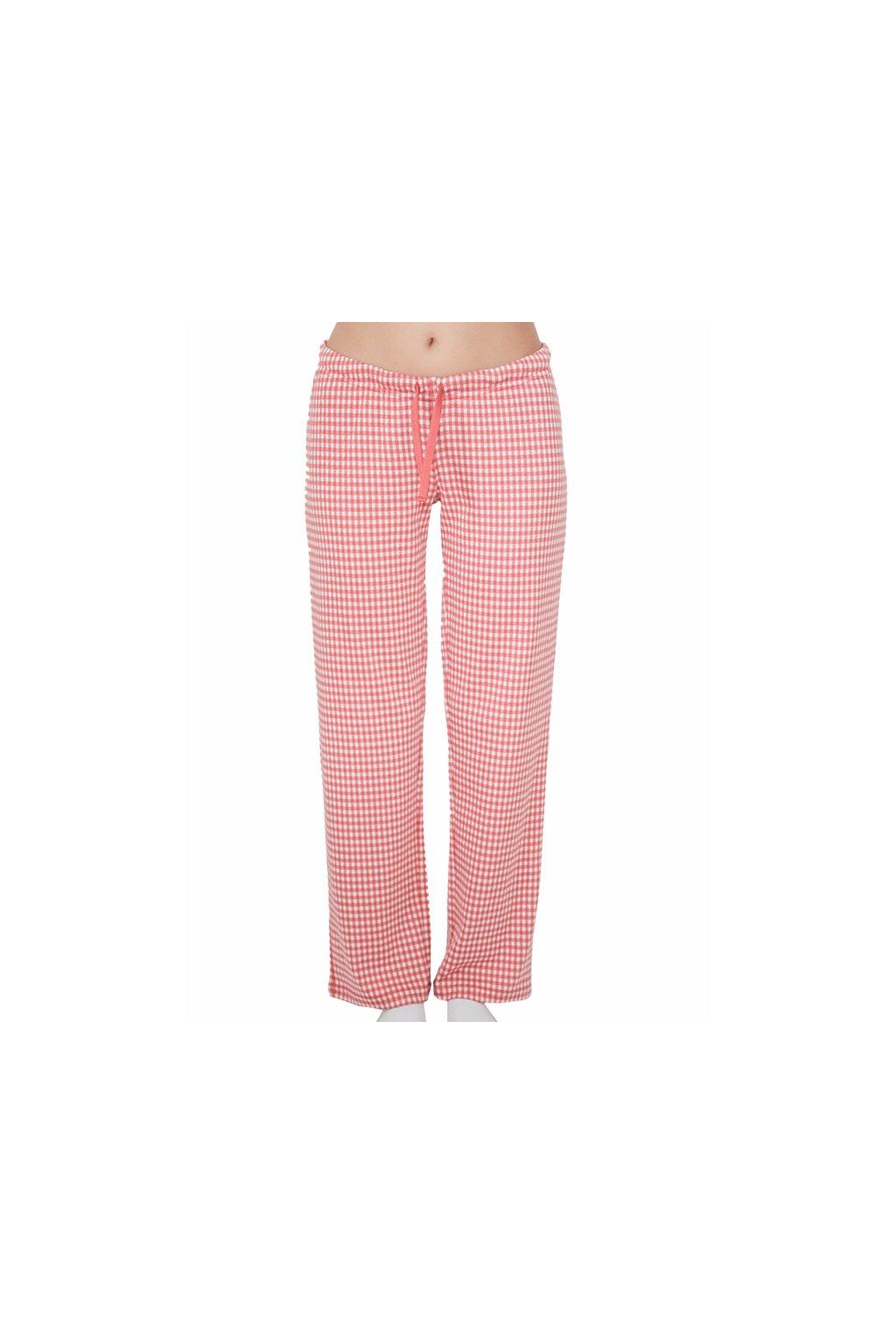 Dámské pyžamové kalhoty z biobavlny - růžové (Velikost L)