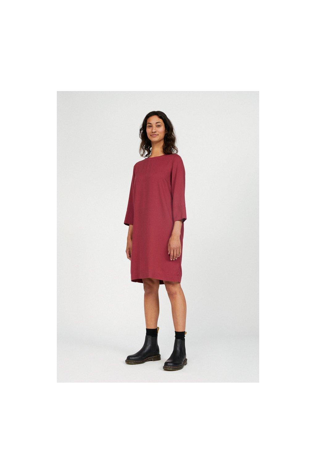 """Dámské růžové šaty """"VADELMAA rosewood"""" (Velikost L)"""