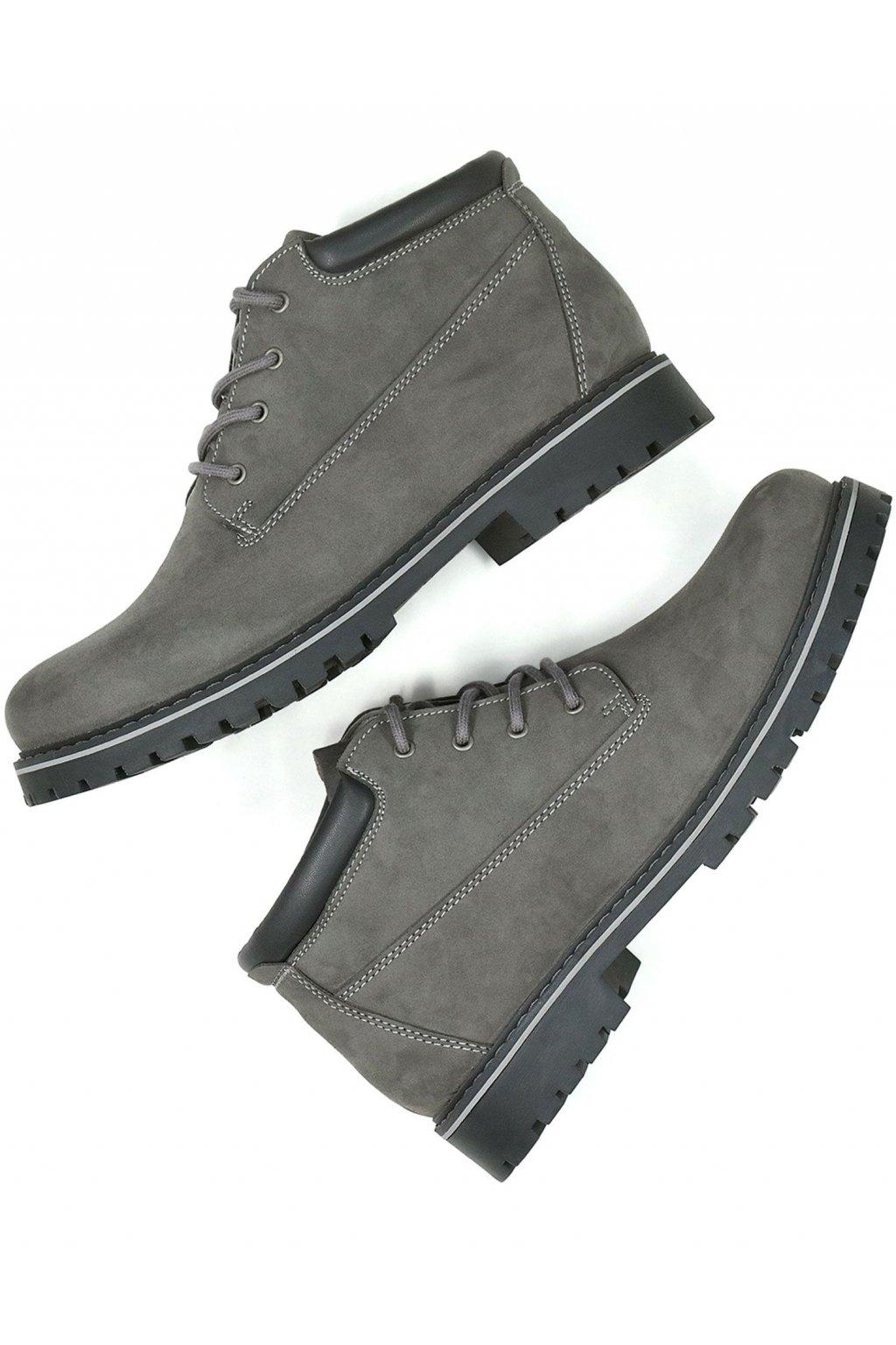 """Dámske šedé členkové topánky """"Low Dock Boots"""""""