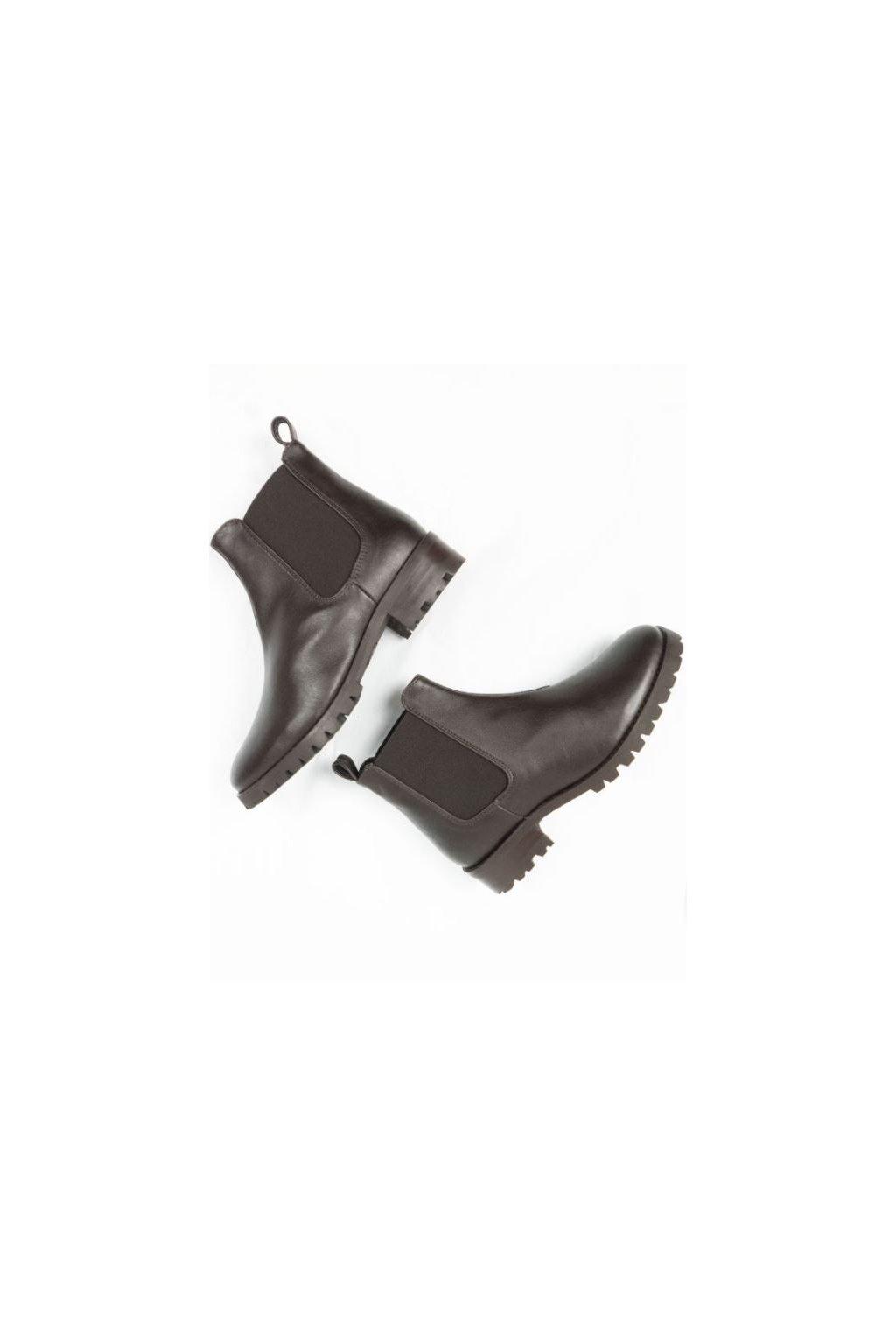 """Dámske tmavohnedé členkové topánky """"Deep Tread Chelsea Boots"""""""