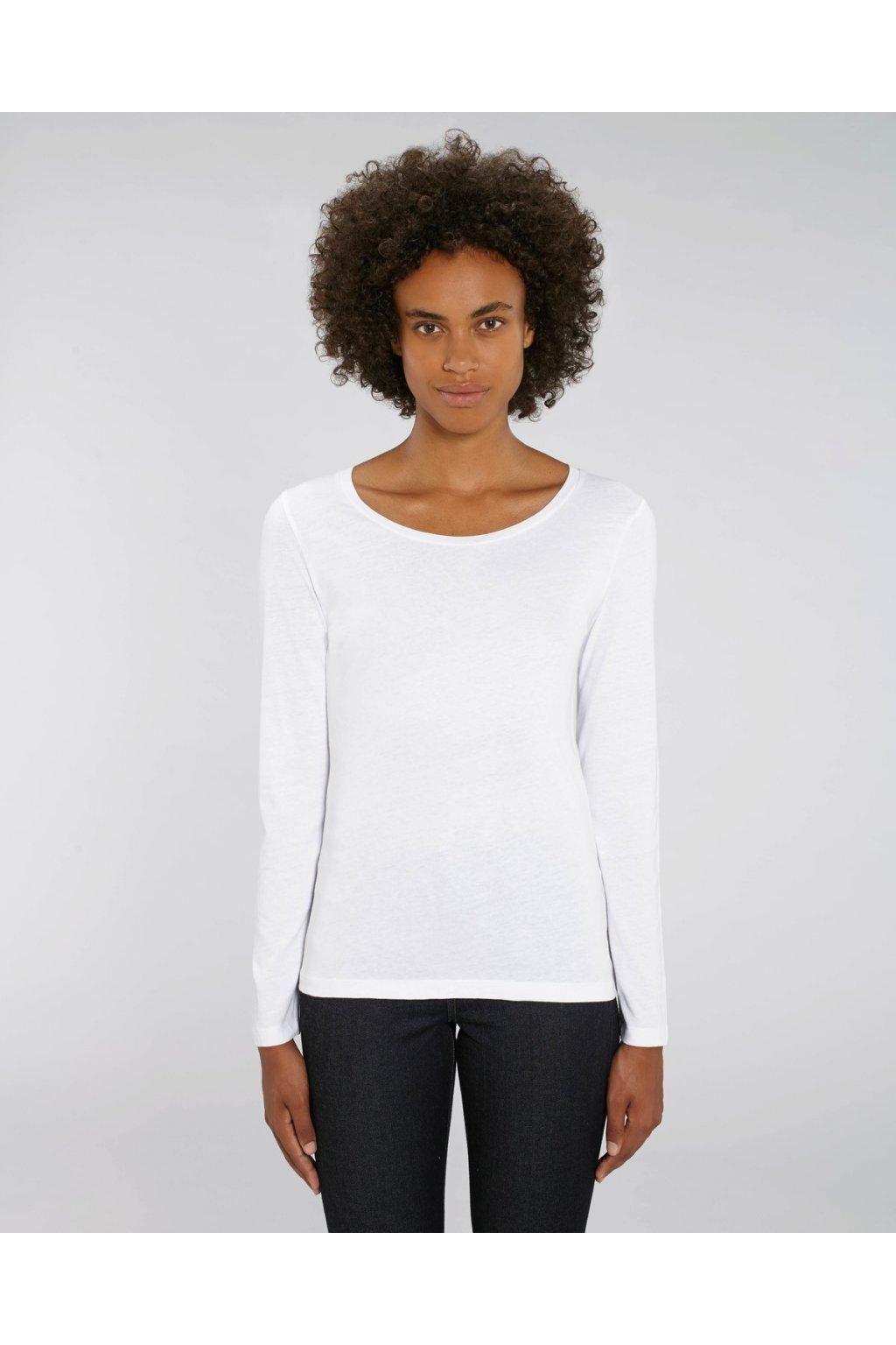 """Dámské tričko s dlouhým rukávem """"Stella Singer"""" bílé (Barva Bílá, Velikost XS)"""
