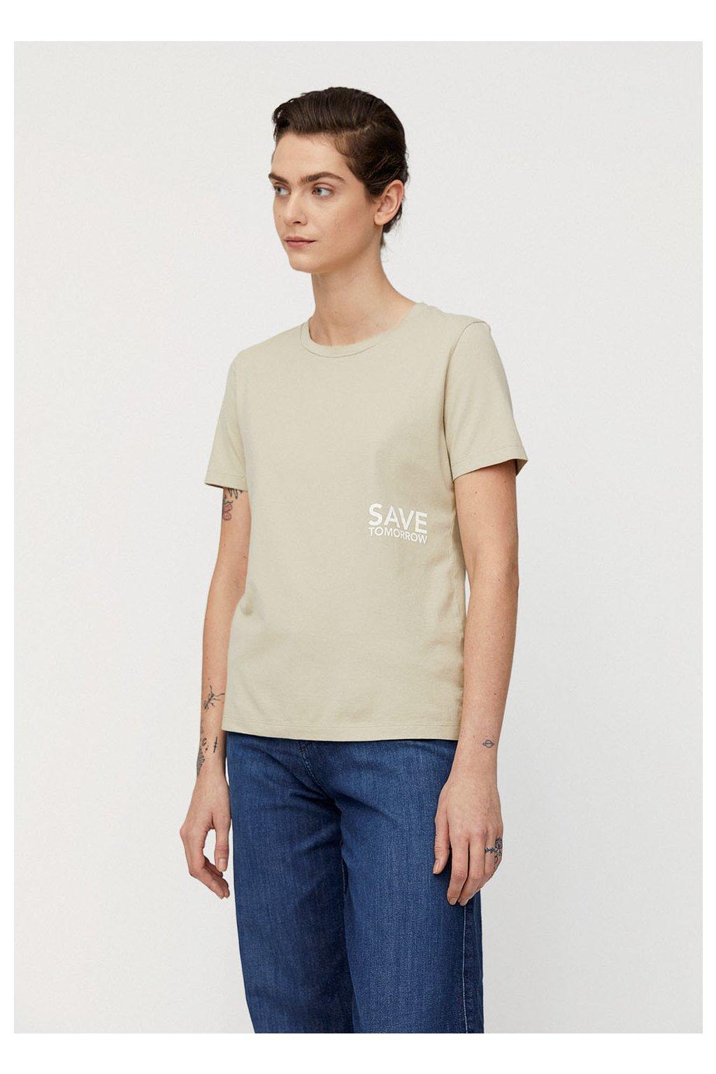 """Dámské tričko z biobavlny """"MARAA SAVE TOMORROW birch leaf"""" (Velikost L)"""
