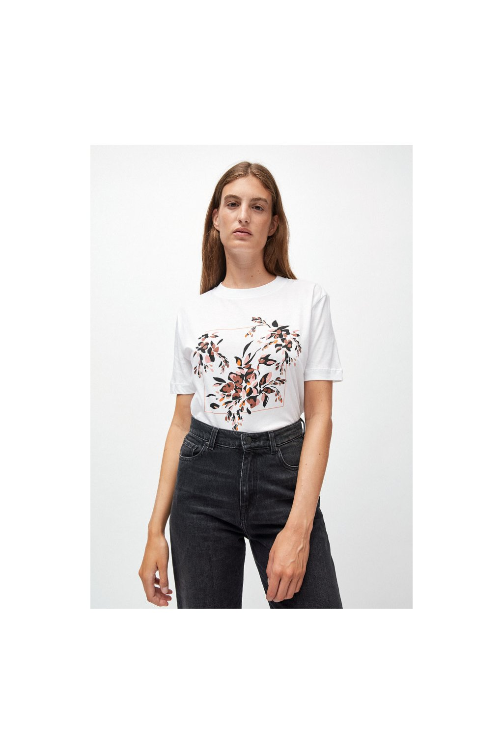 """Dámské tričko z biobavlny """"MIAA floral frame"""" (Velikost L)"""