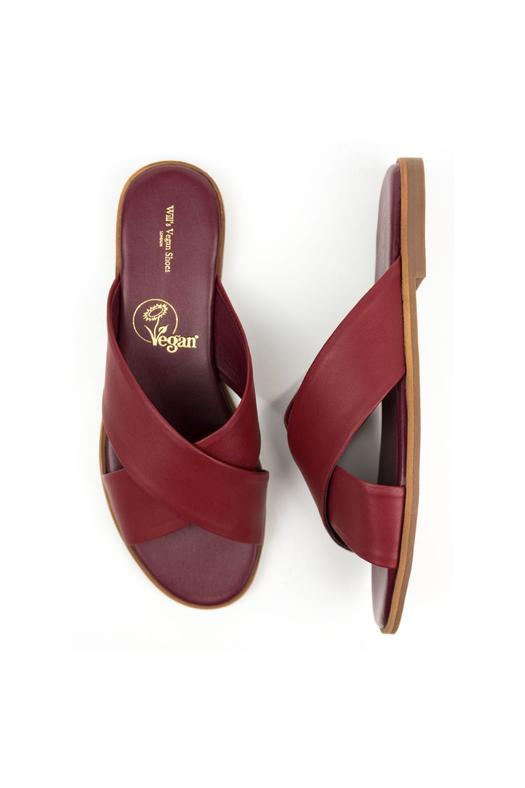 """Dámske vínové sandále """"Slides Wine"""""""