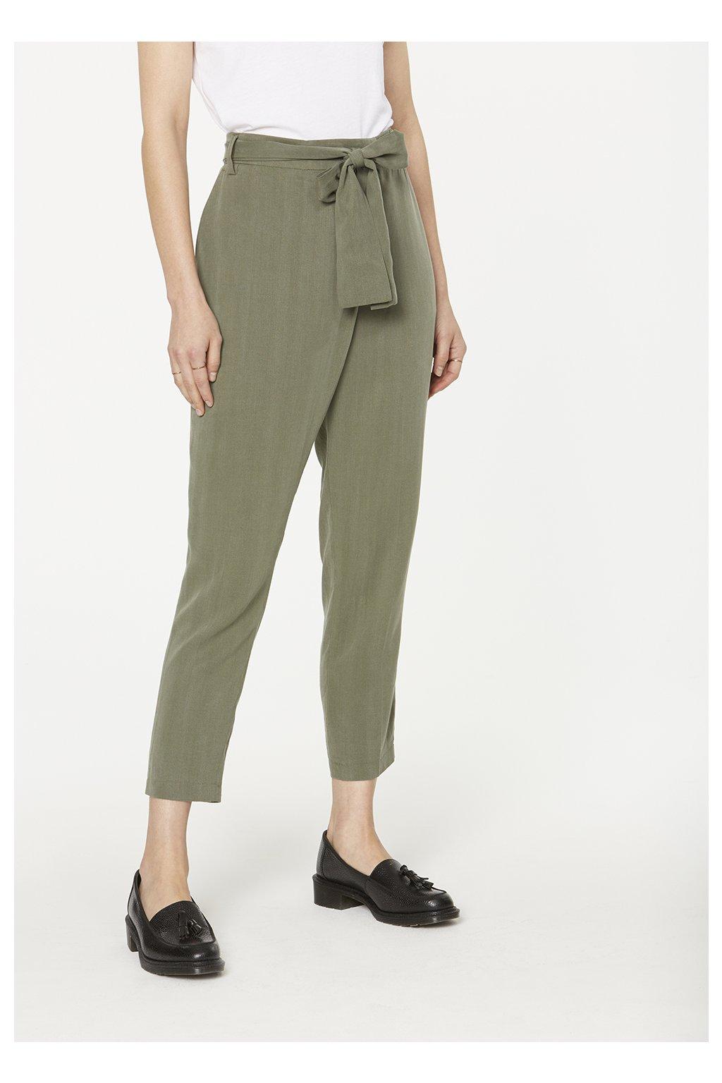 "Dámské zelené kalhoty ""Jolena Khaki"" (Velikost L)"