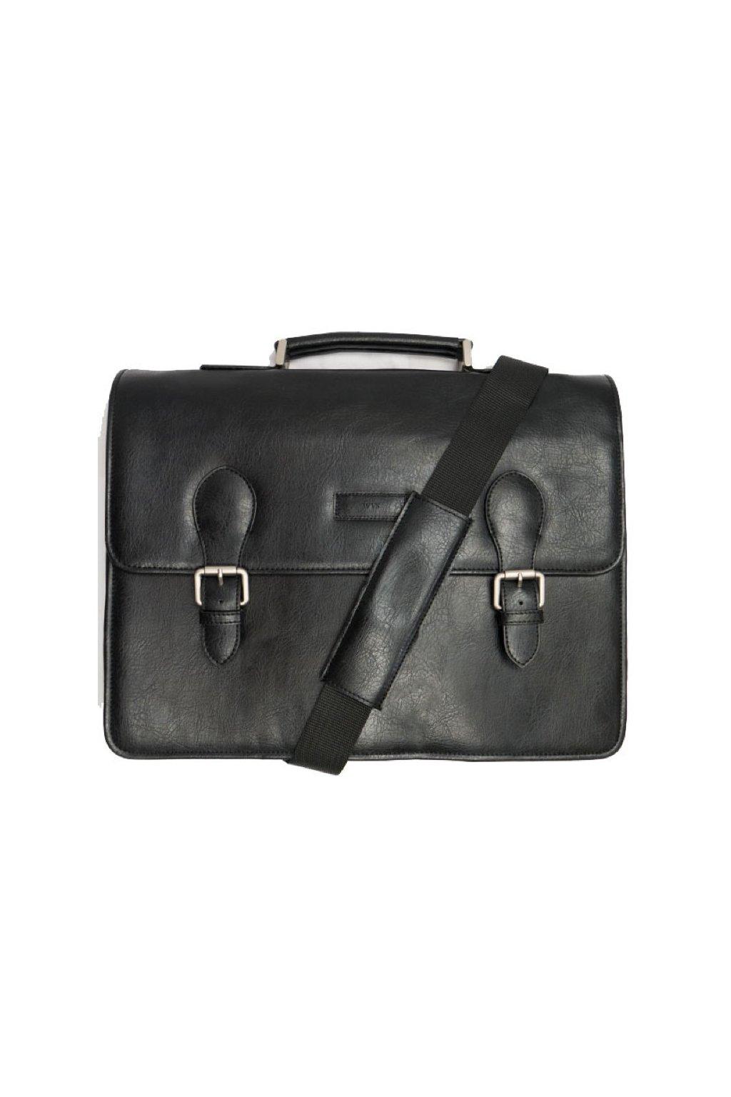 """Čierna vegánska taška """"Classic Briefcase"""""""