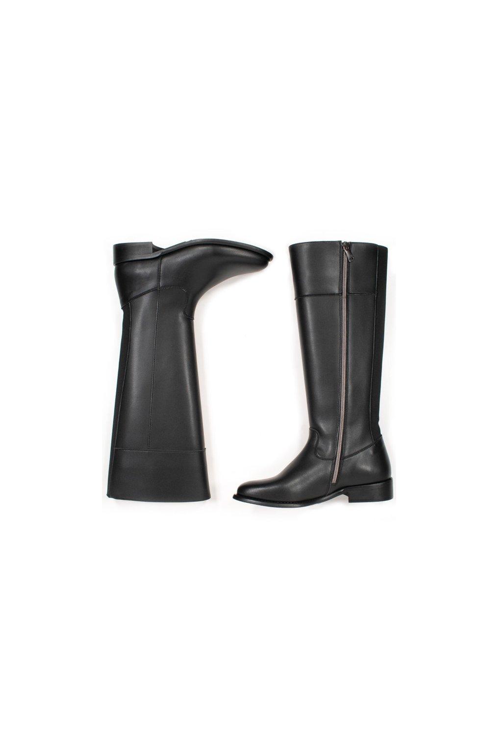 "Dámske čierne čižmy z biooleja ""Knee High Boots"""