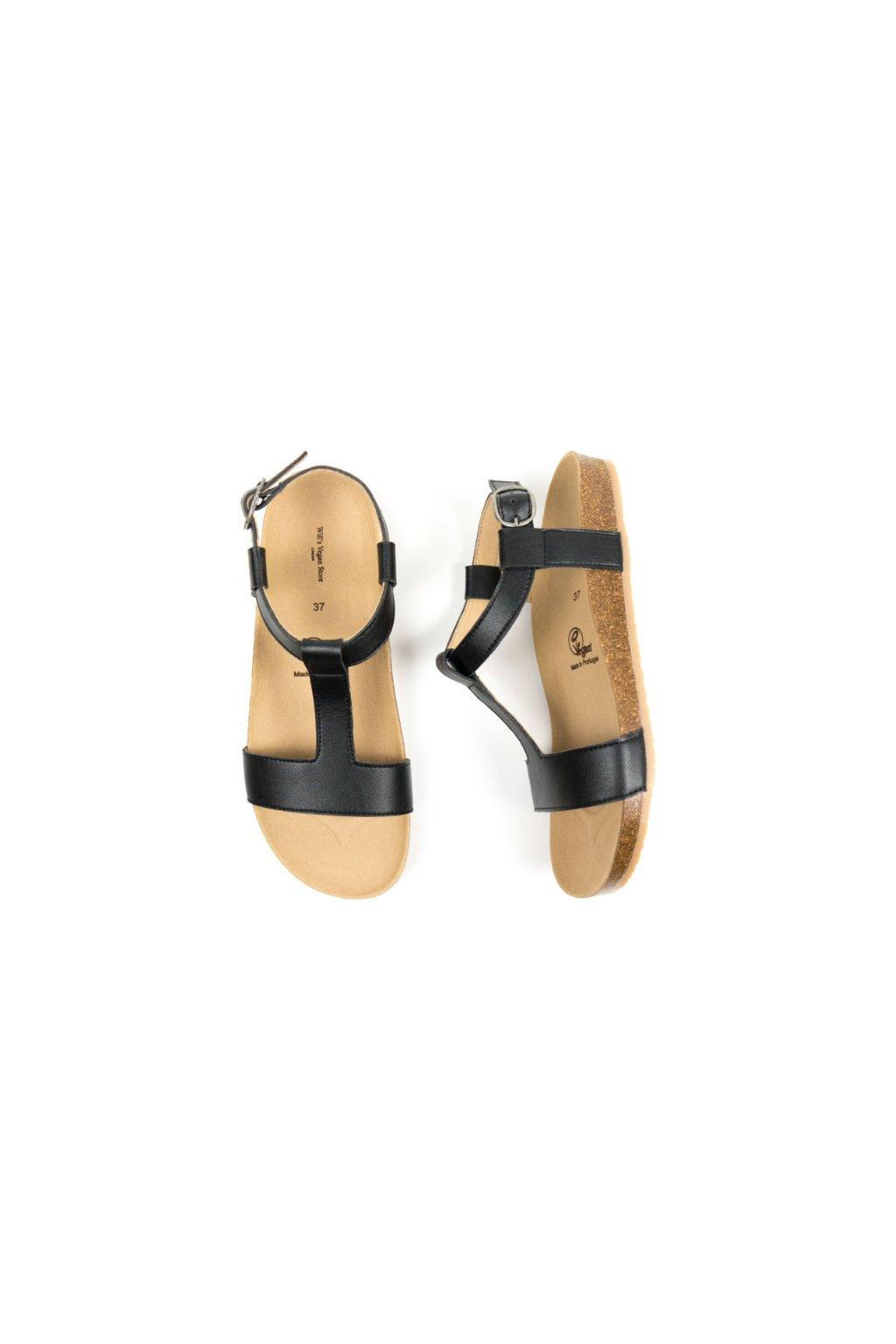 """Čierne sandále """"Footbed Sandals Black"""" - starý model"""