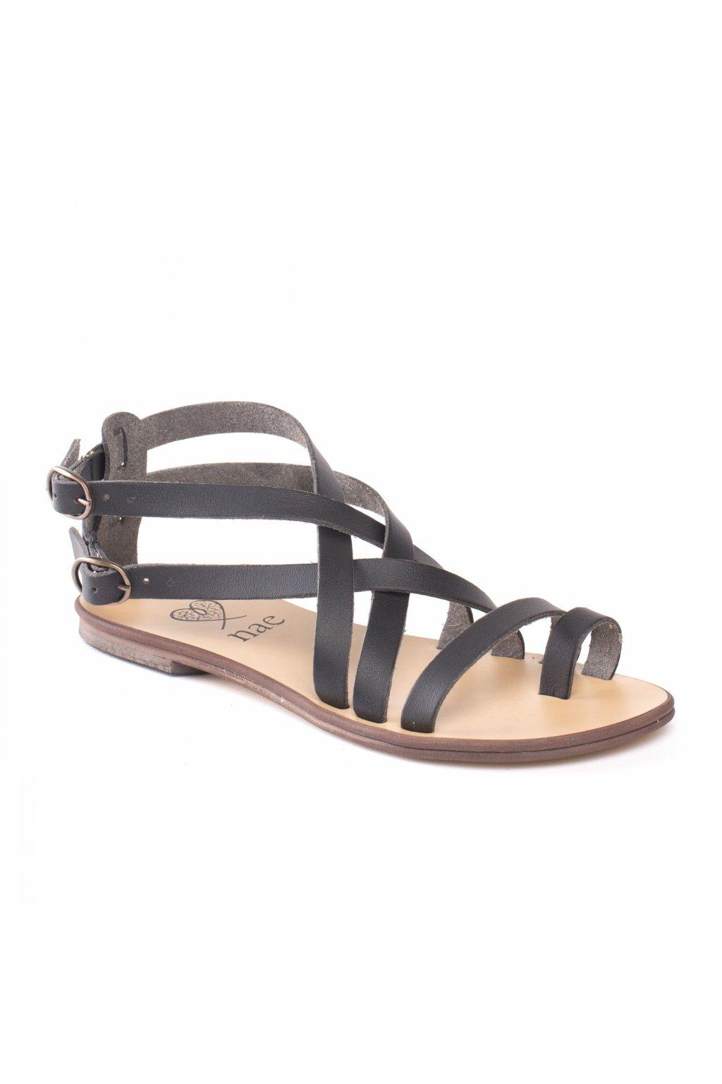 "Dámske čierne sandálky ""Itaca"""