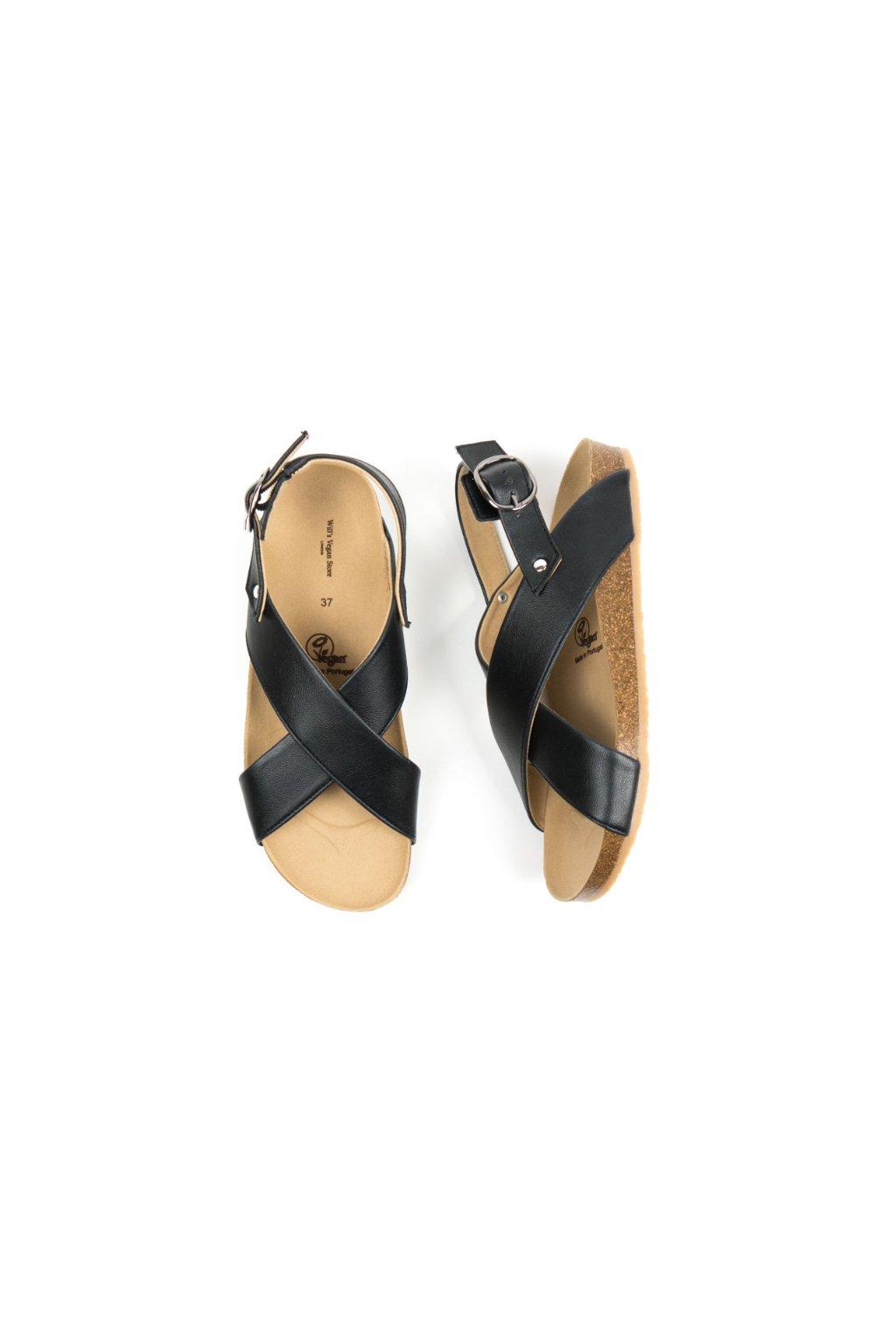 "Čierne sandále z biooleja ""Huarache Footbed Sandals"" - starý model"