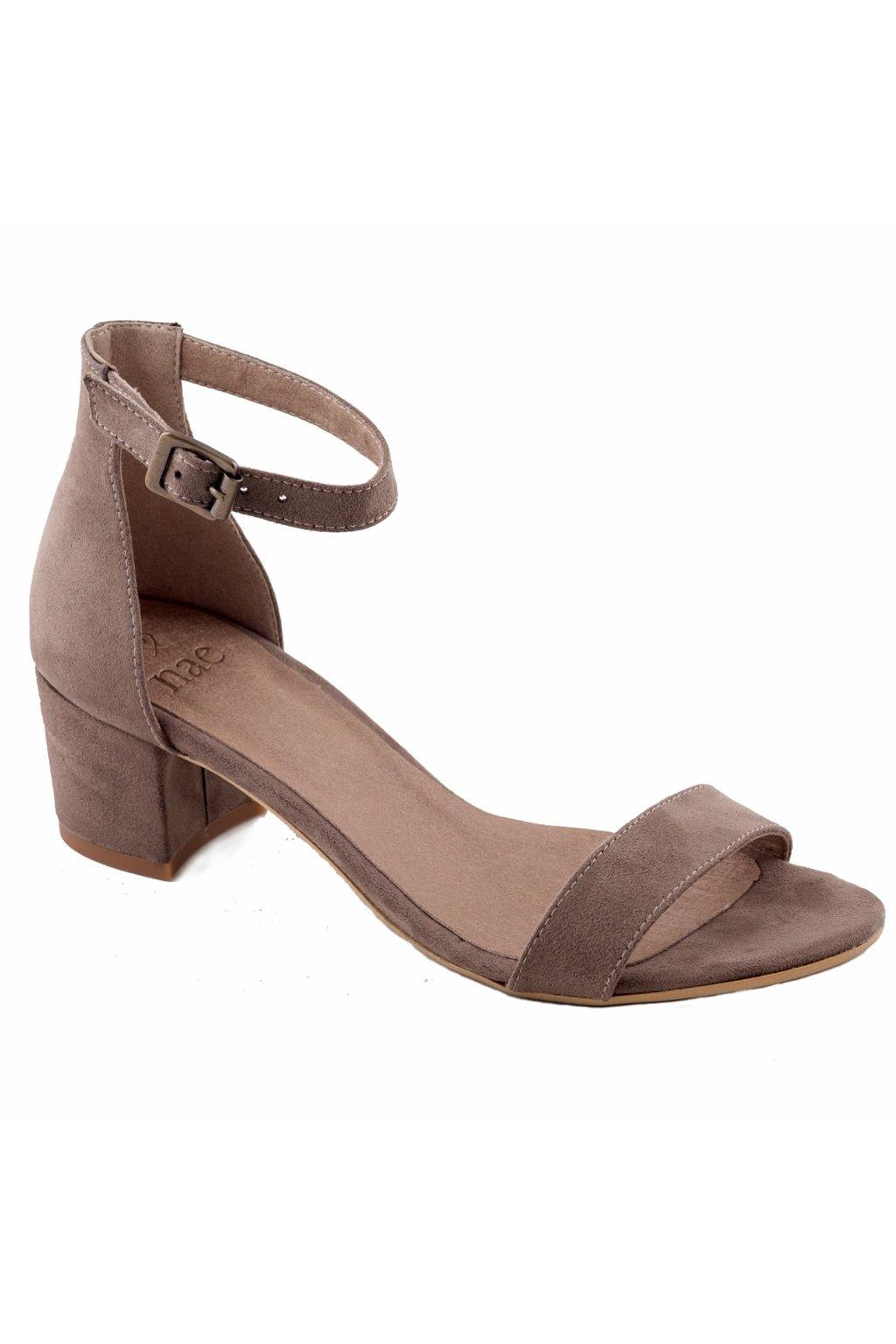 """Hnedé sandálky na nízkom podpätku """"Irene brown"""""""
