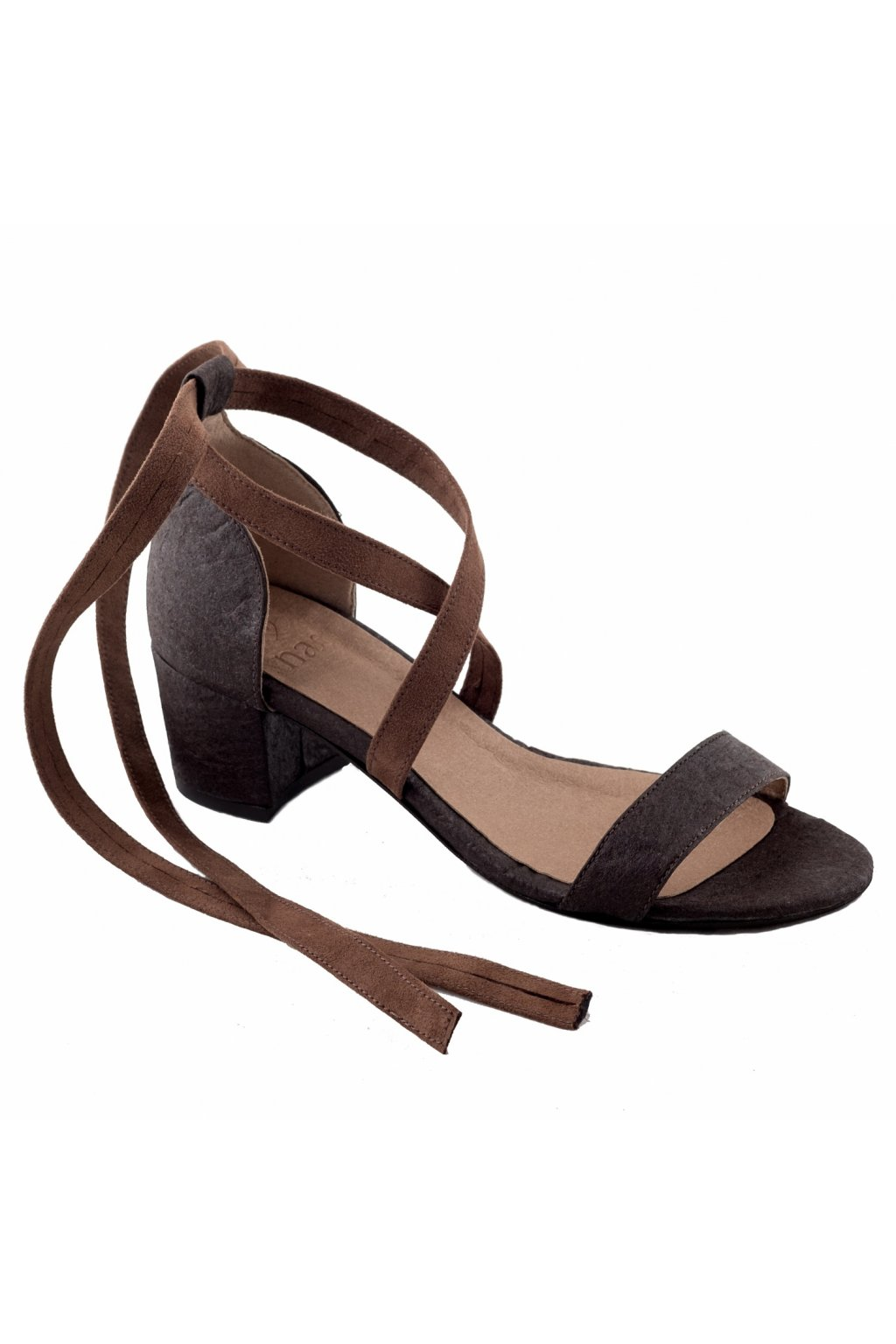 "Hnedé sandálky z ananásových vlákien ""Clau brown"""