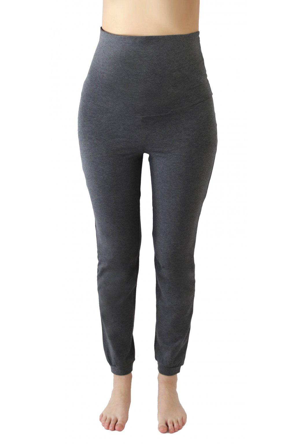 Kalhoty na jógu - antracit/melange (Velikost L)