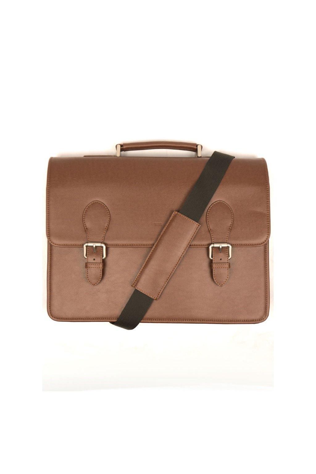 """Hnedá vegánska taška """"Classic Briefcase"""""""