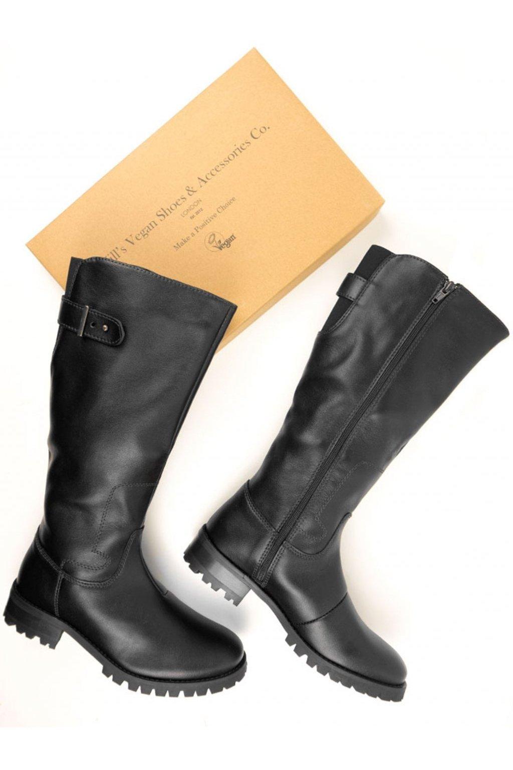 "Hnedé čižmy z biooleja ""Knee length Boots"""