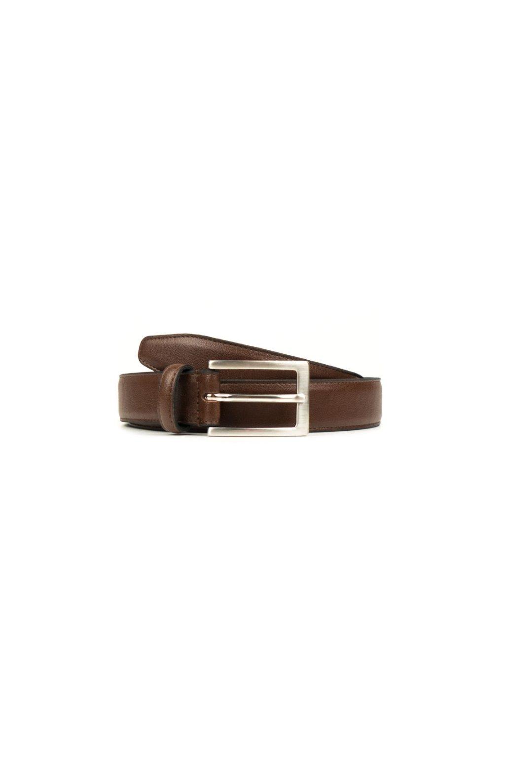 "Hnedý opasok ""Classic 3cm Belt Chestnut"""
