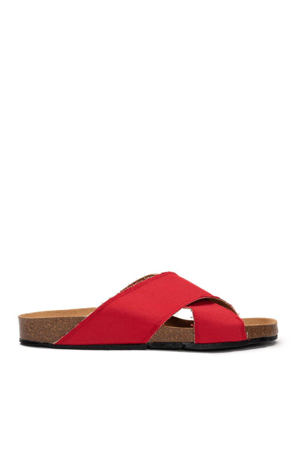 """Červené sandálky z recyklovaného plastu """"Bali Red"""""""