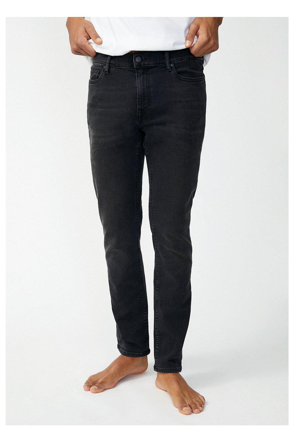 """Pánské černé džíny z biobavlny """"IAAN x STRETCH black washed"""" (Velikost 29/32)"""