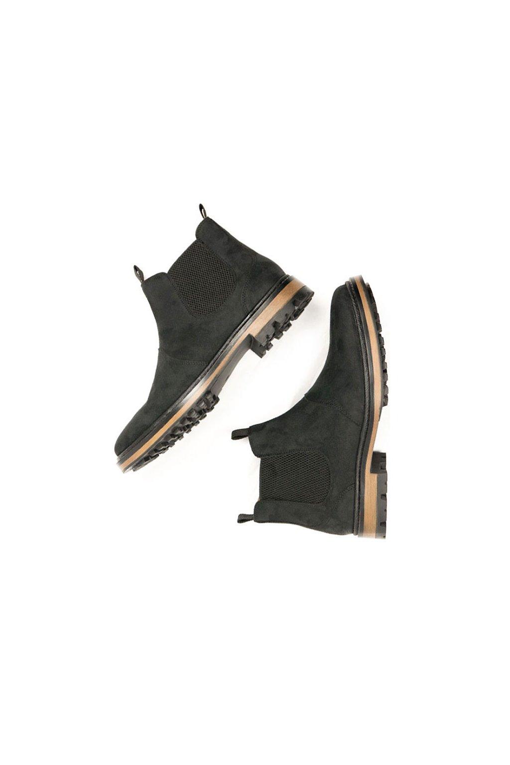 """Pánske čierne členkové topánky """"Continental Chelsea Boots"""""""