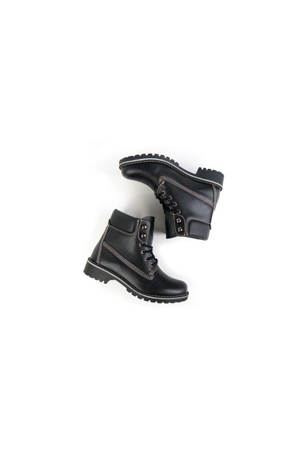 """Pánske členkové topánky """"Dock Boots Black"""""""