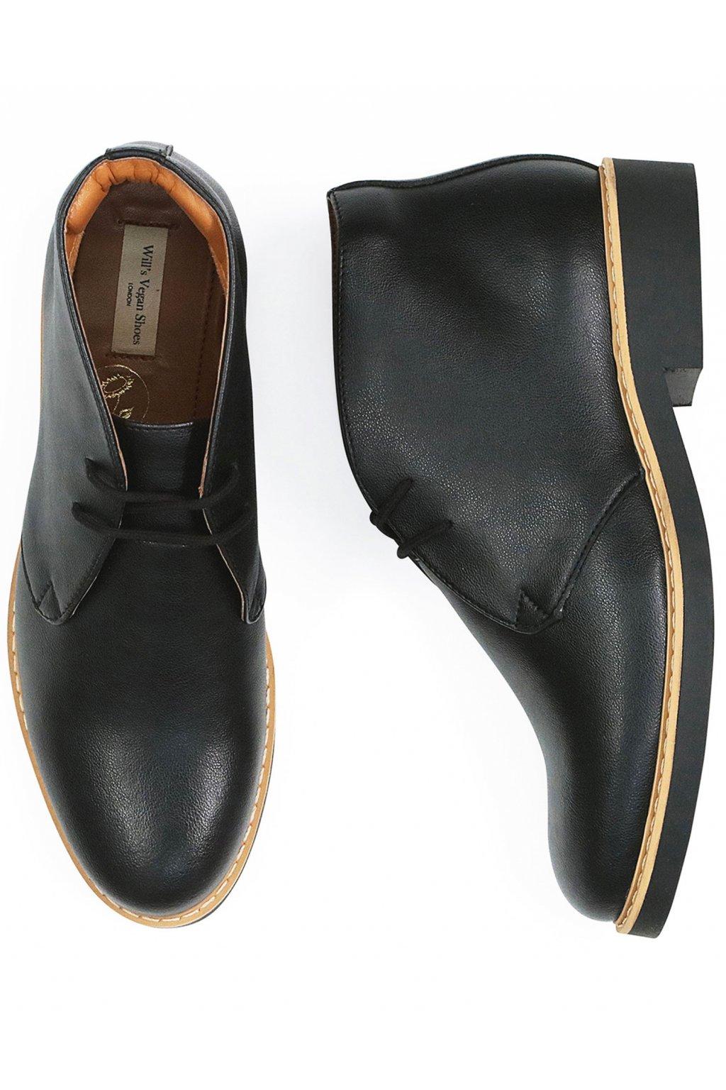 """Pánske čierne členkové topánky """"Signature Desert Boots"""""""