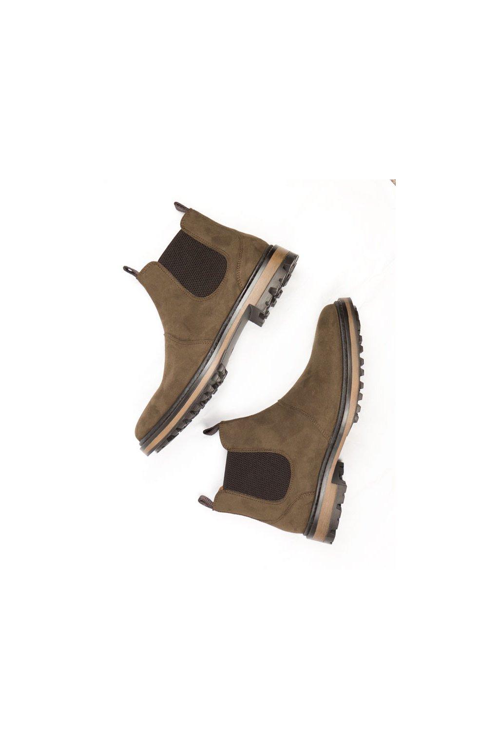 """Pánske hnedé členkové topánky """"Continental Chelsea Boots"""""""
