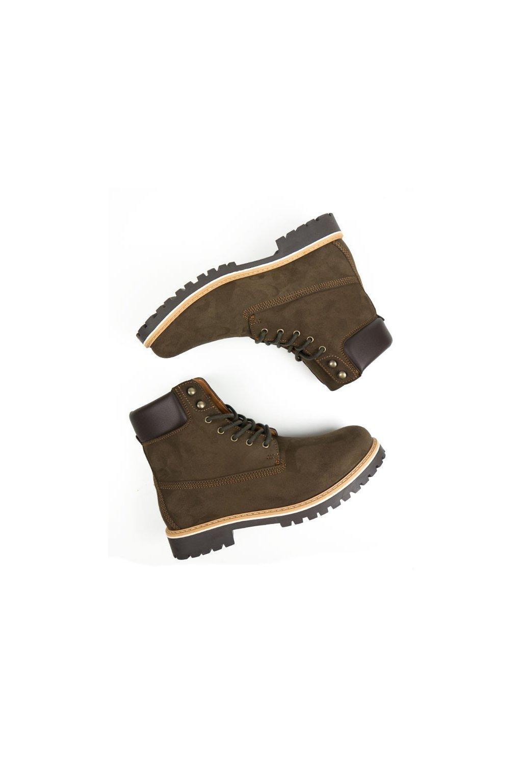 """Pánske hnedé členkové topánky """"Dock Boots"""""""