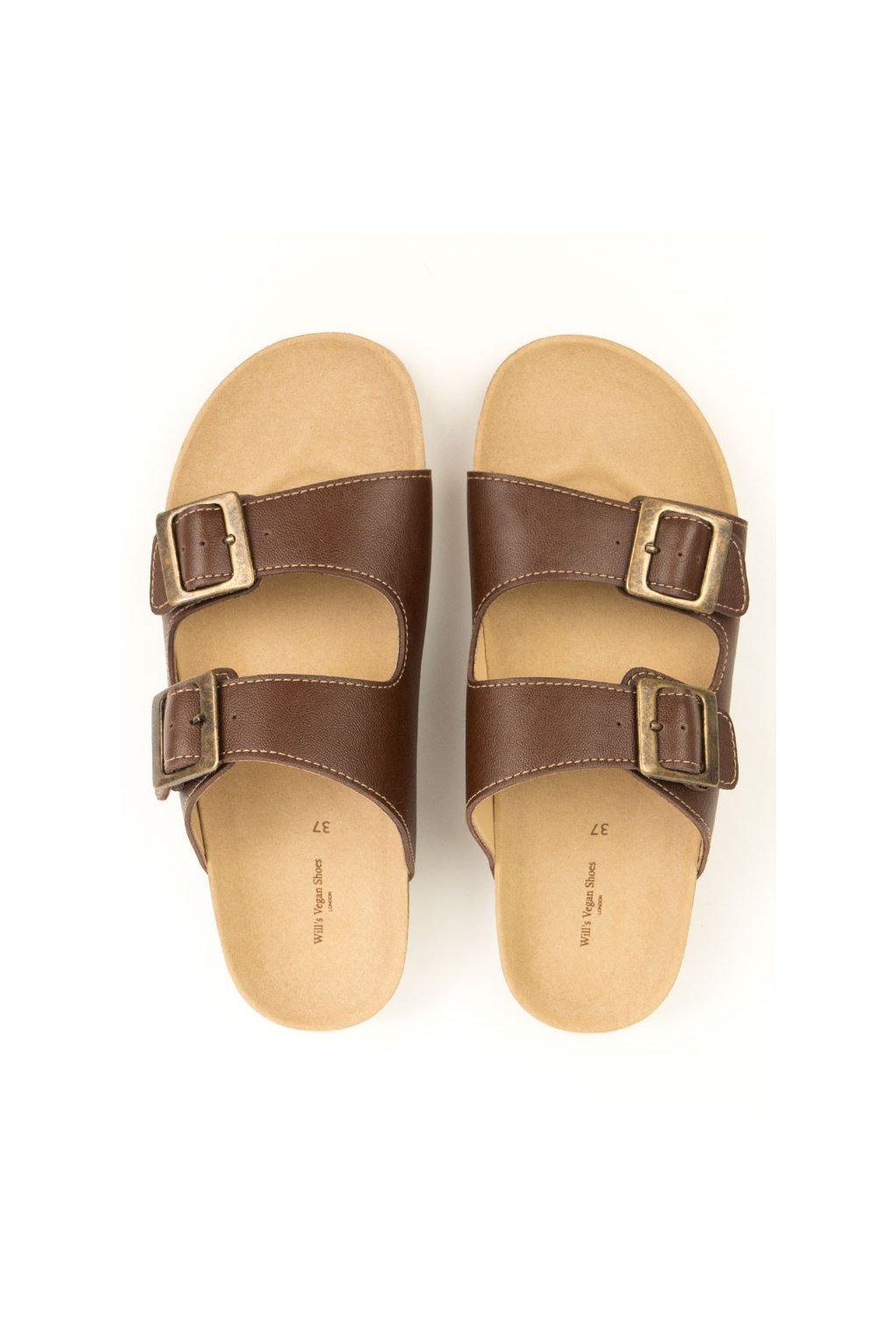"Pánske hnedé sandále ""Footbed Sandals"" - starý model"