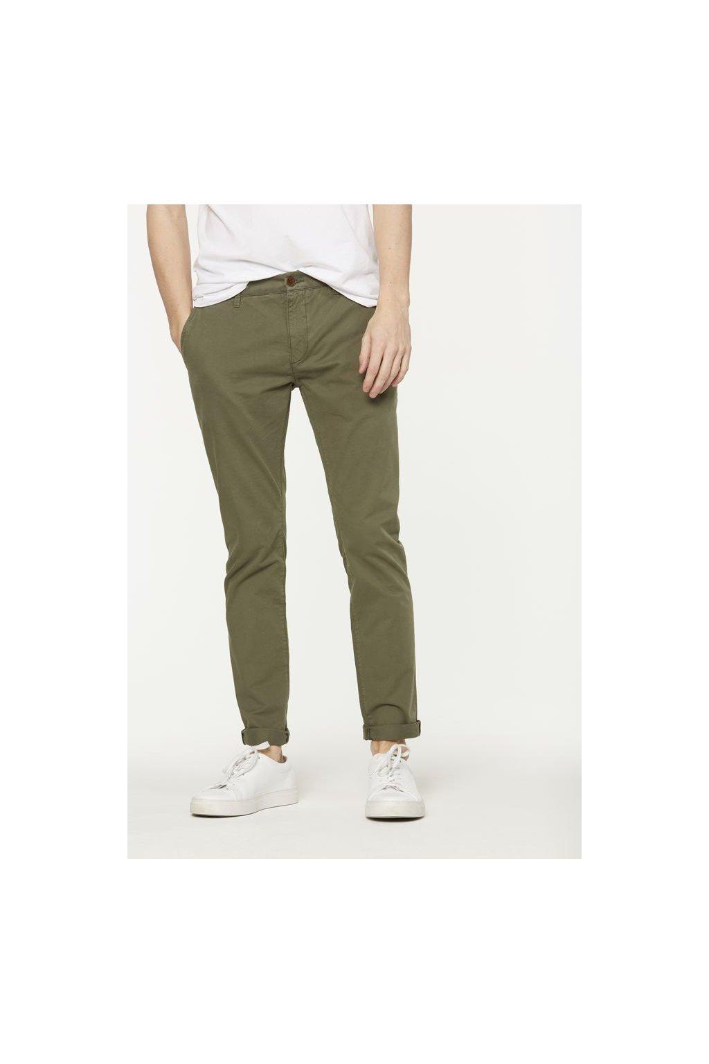 """Pánské khaki chino kalhoty z biobavlny """"Brandon"""" (Velikost 29/32)"""