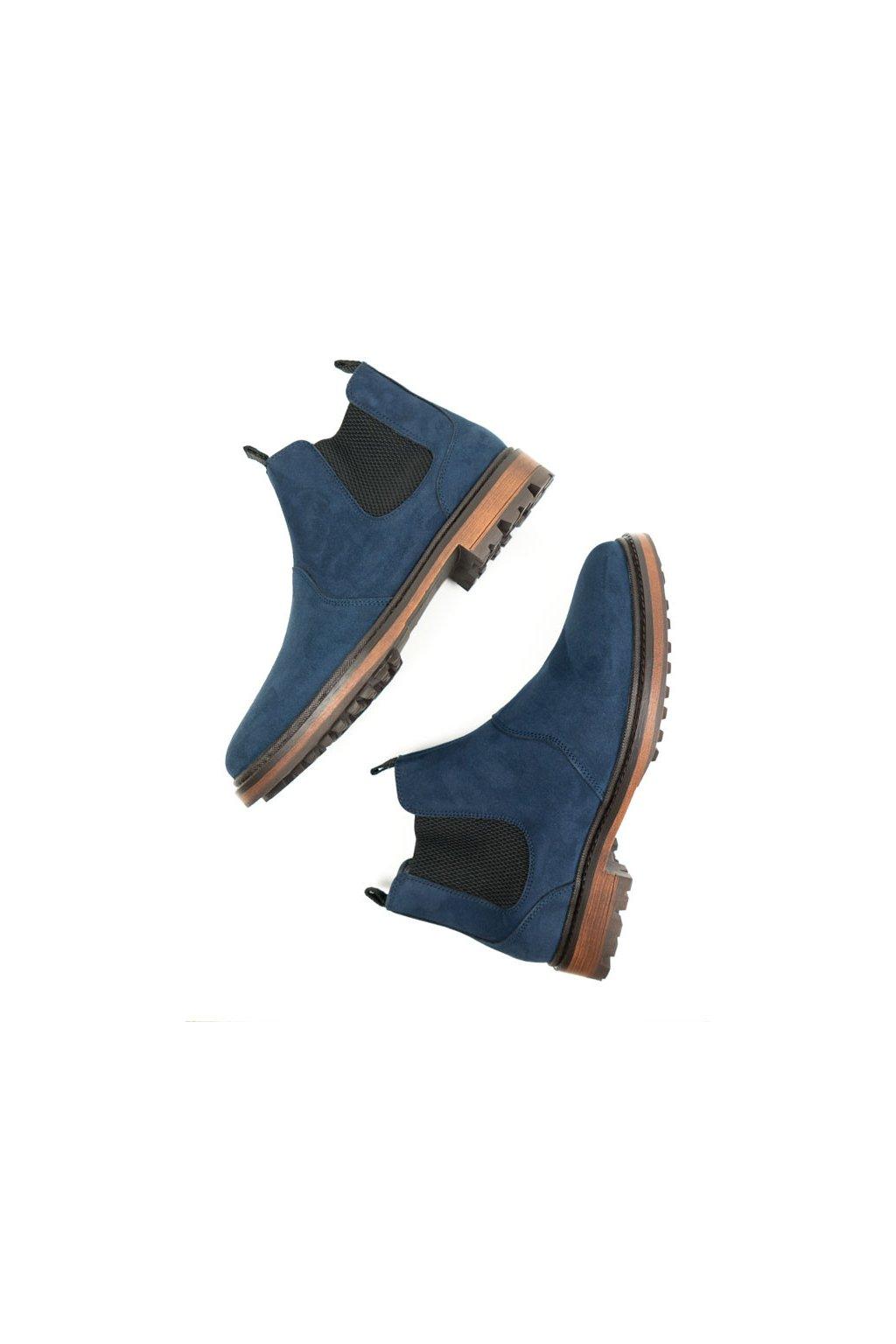 """Pánske modré členkové topánky """"Continental Chelsea Boots"""""""