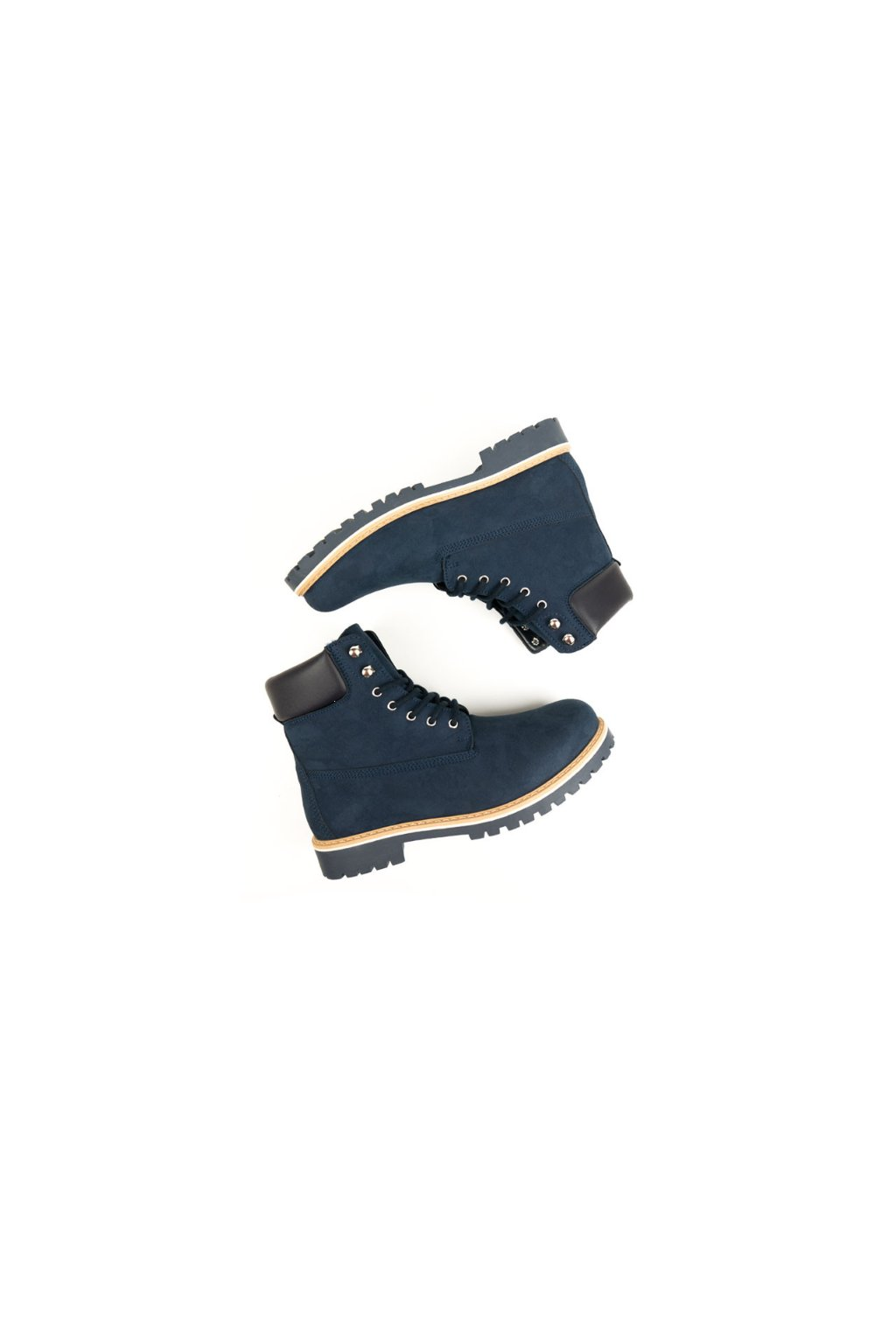 """Pánske modré členkové topánky """"Dock Boots Dark Blue"""""""