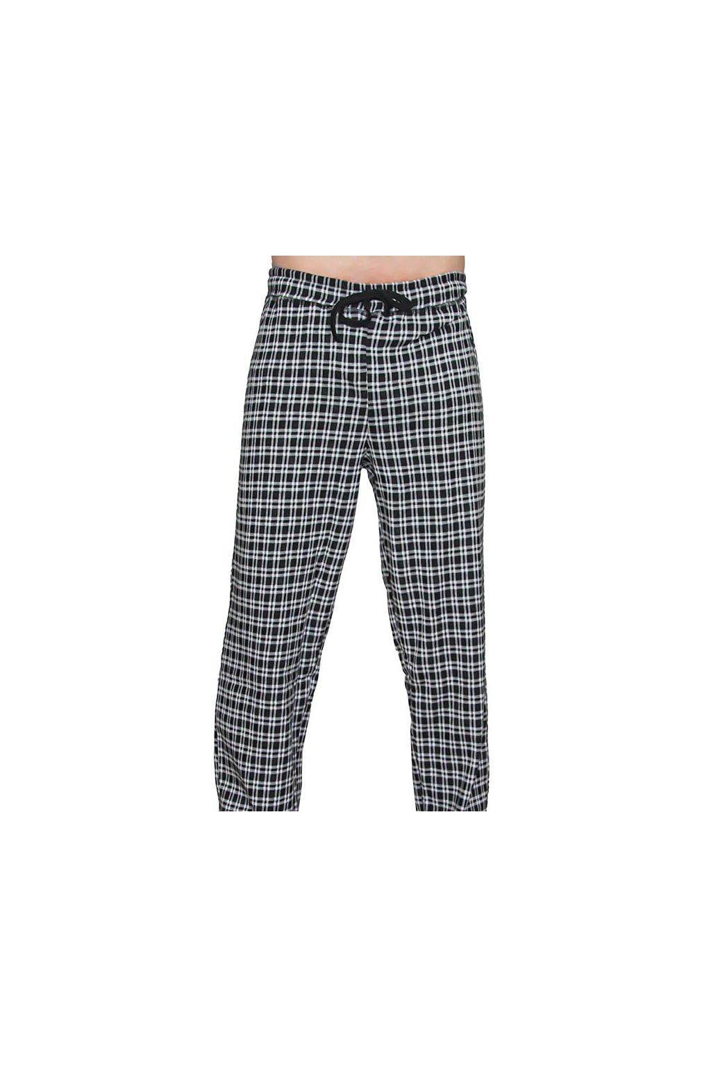 Pánské pyžamové kalhoty z biobavlny - černé (Velikost L)