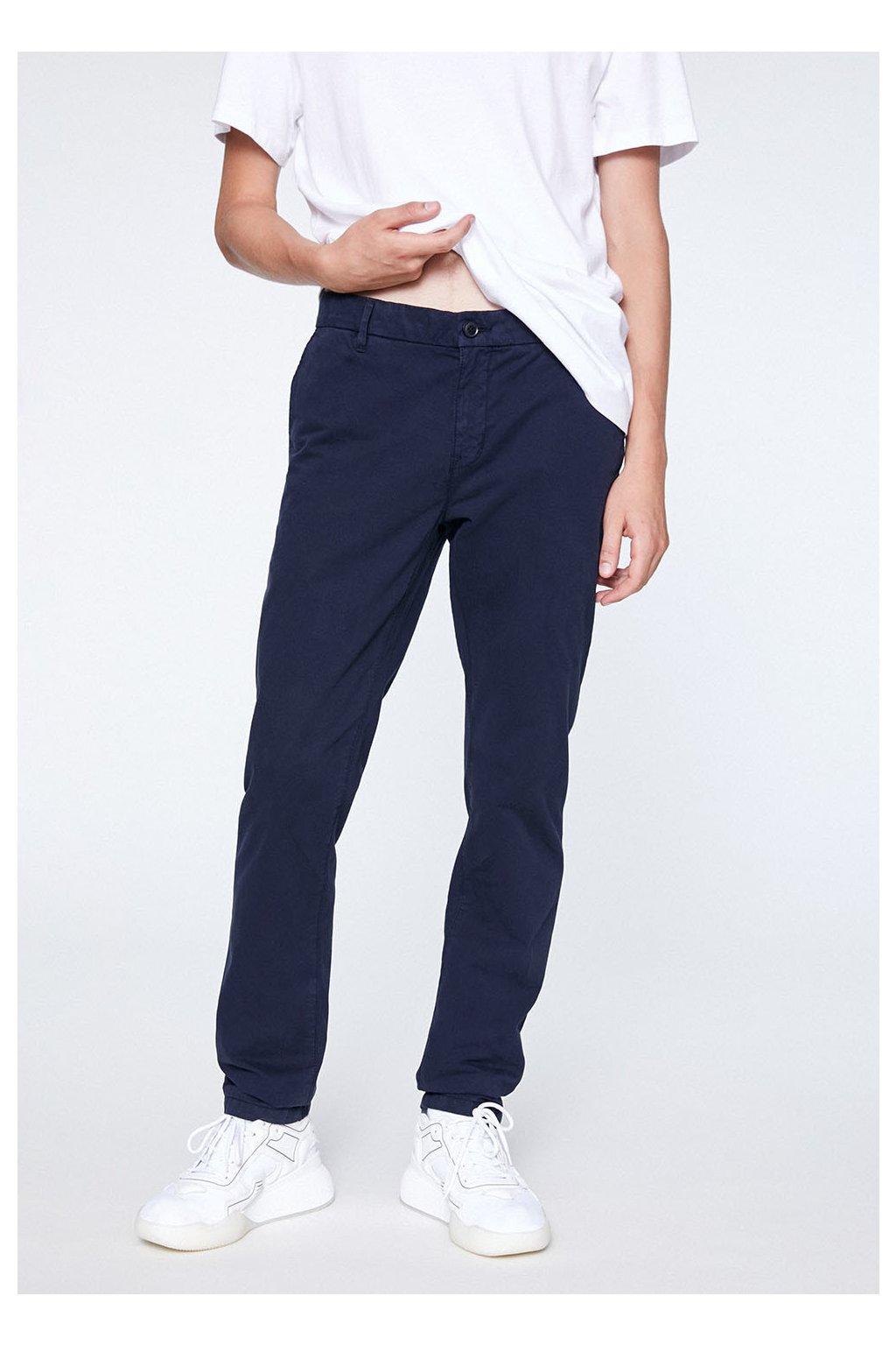 """Pánské tmavě modré kalhoty z biobavlny """"EDVAAN NAVY"""" (Velikost 29/32)"""