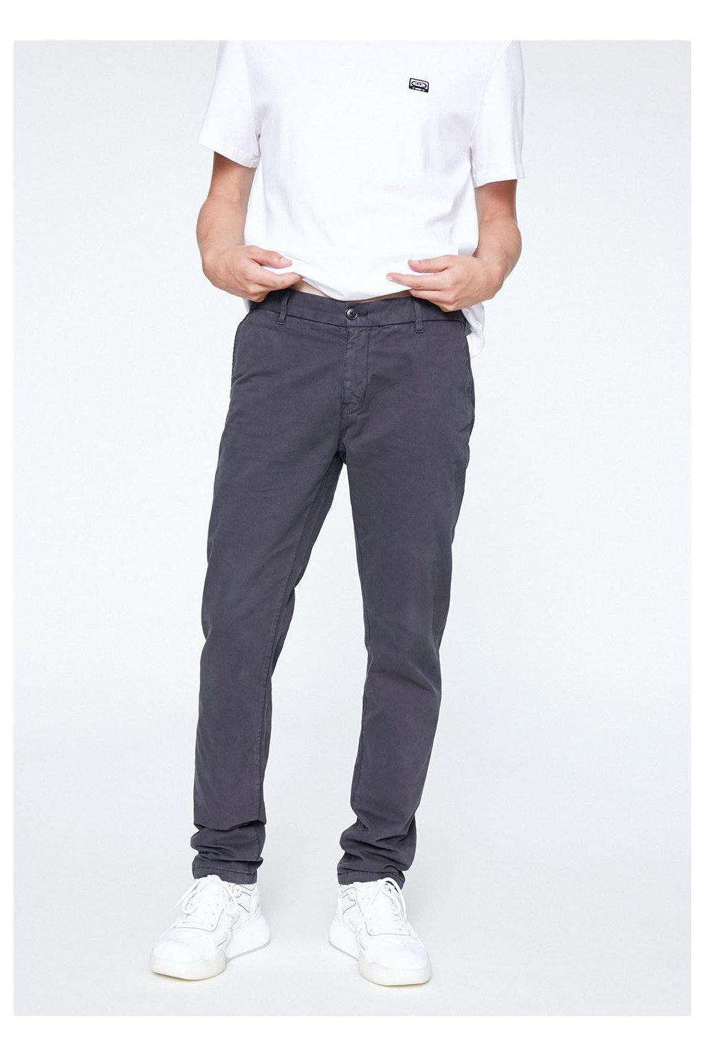 """Pánské tmavě šedé kalhoty z biobavlny """"EDVAAN ACID BLACK"""" (Velikost 29/32)"""