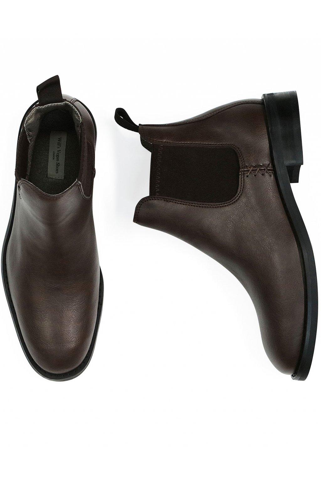 """Pánske vodeodolné hnedé členkové topánky """"Waterproof Chelsea Boots"""""""