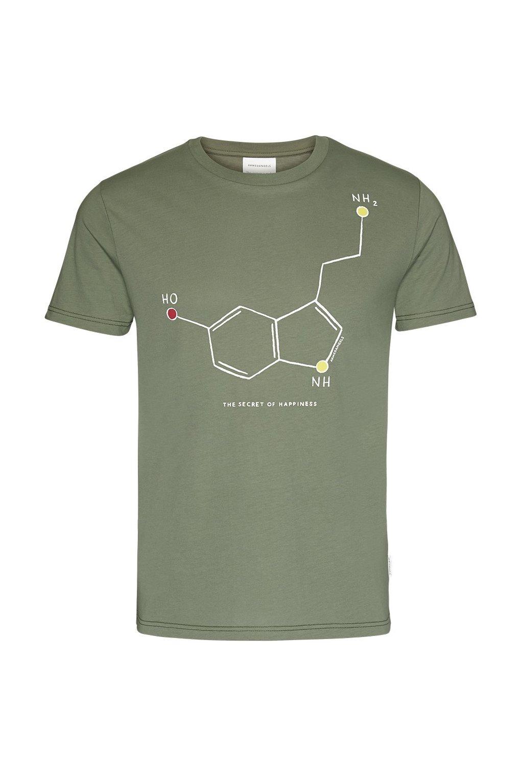 """Pánské zelené tričko """"JAAMES HAPPINESS"""" (Velikost L)"""