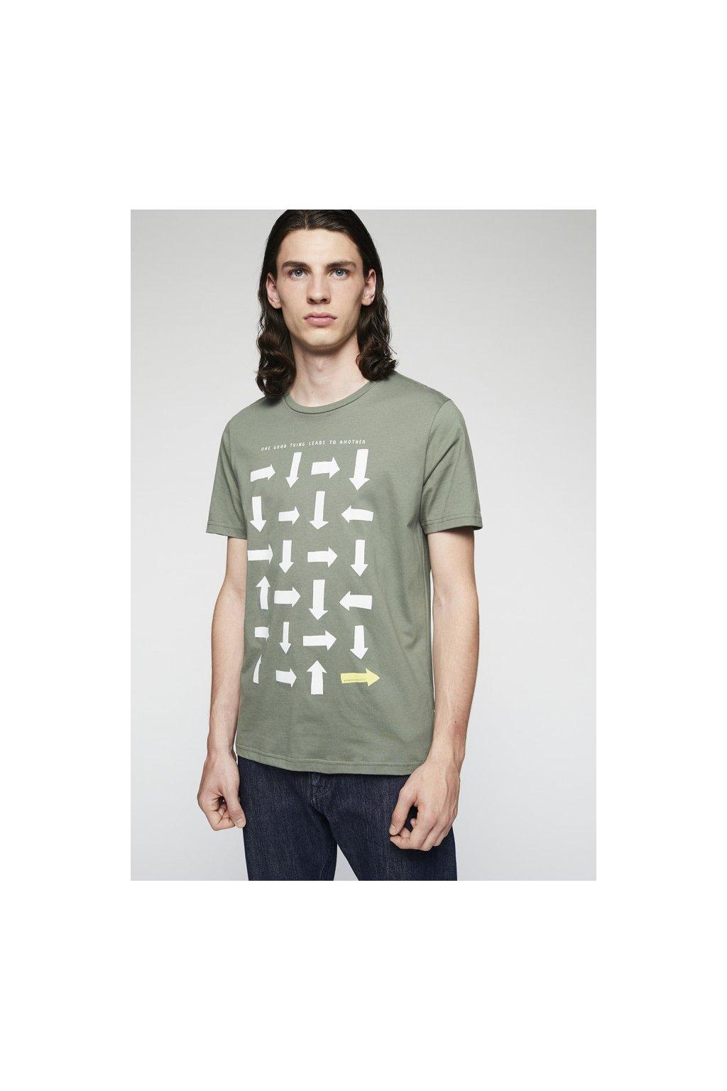"""Pánské zelené tričko """"JAAMES LOGIC"""" (Velikost L)"""